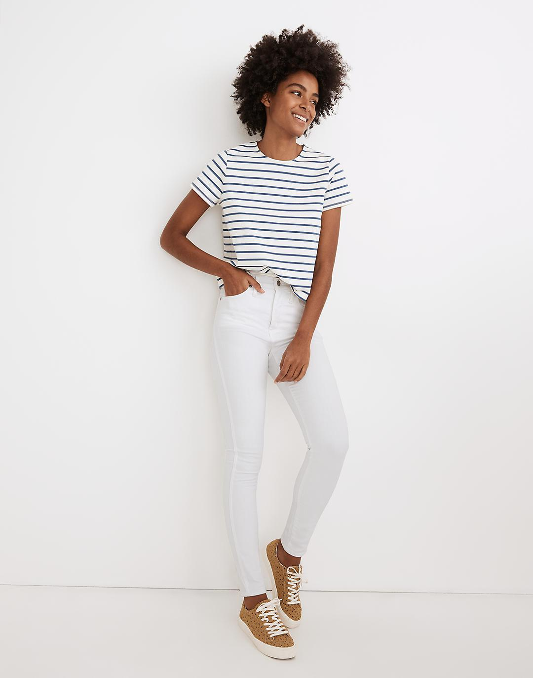 """10"""" High-Rise Skinny Jeans in Pure White"""