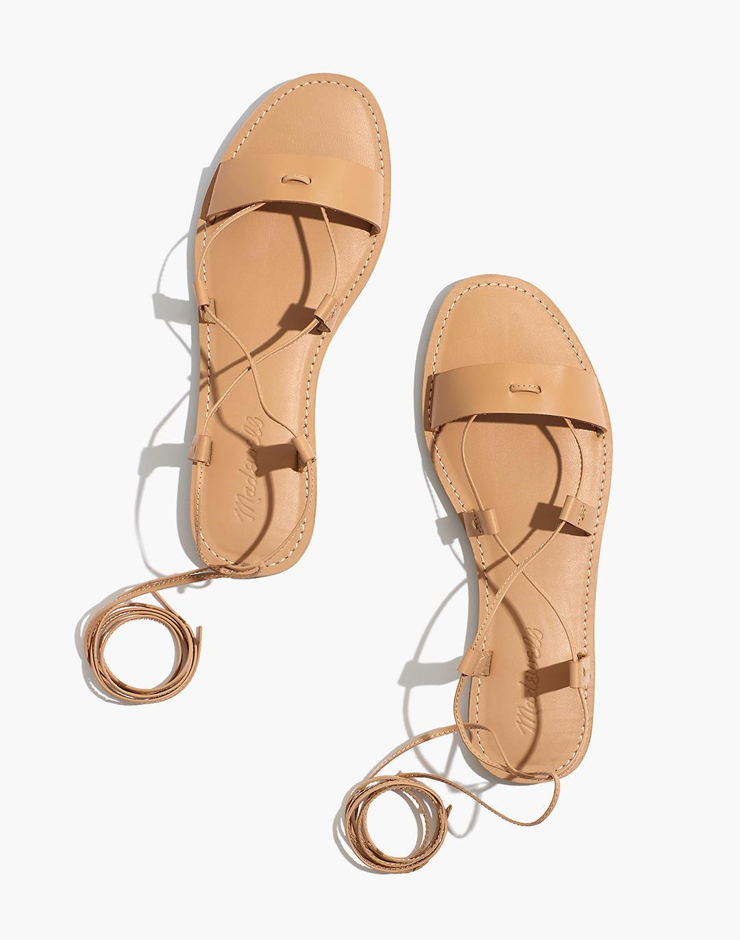 The Boardwalk Lace-Up Sandal in Leather