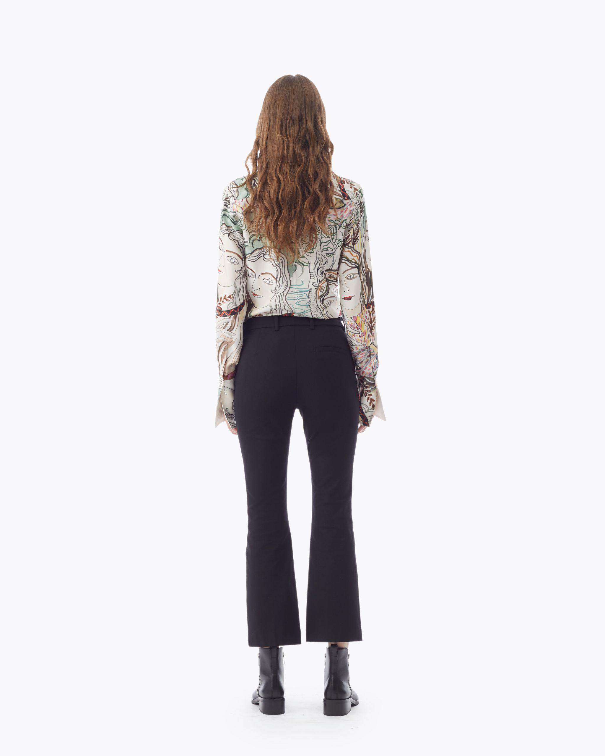 Cropped Flared Trouser 2