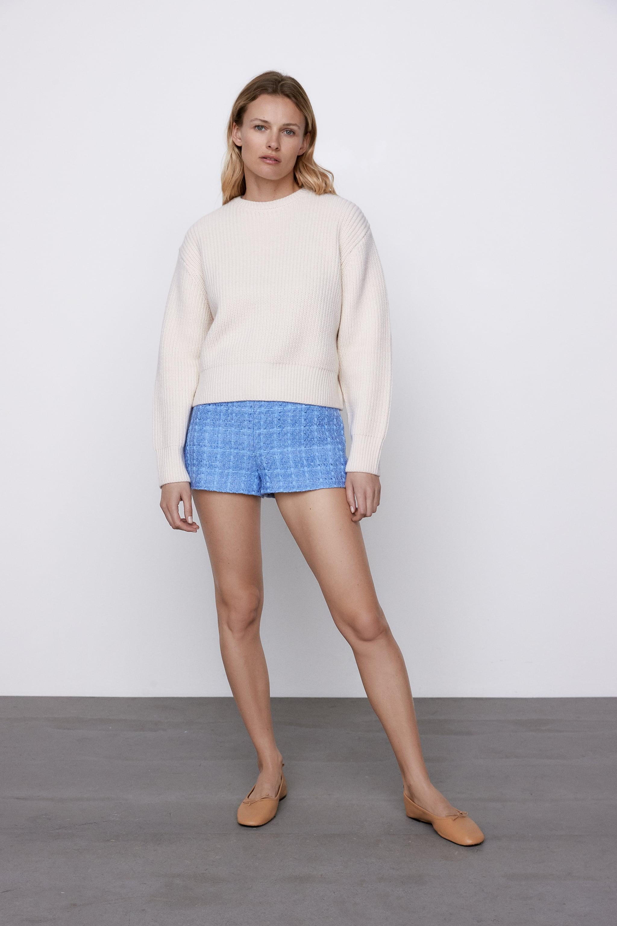 CROPPED LONG SLEEVE SWEATER 0