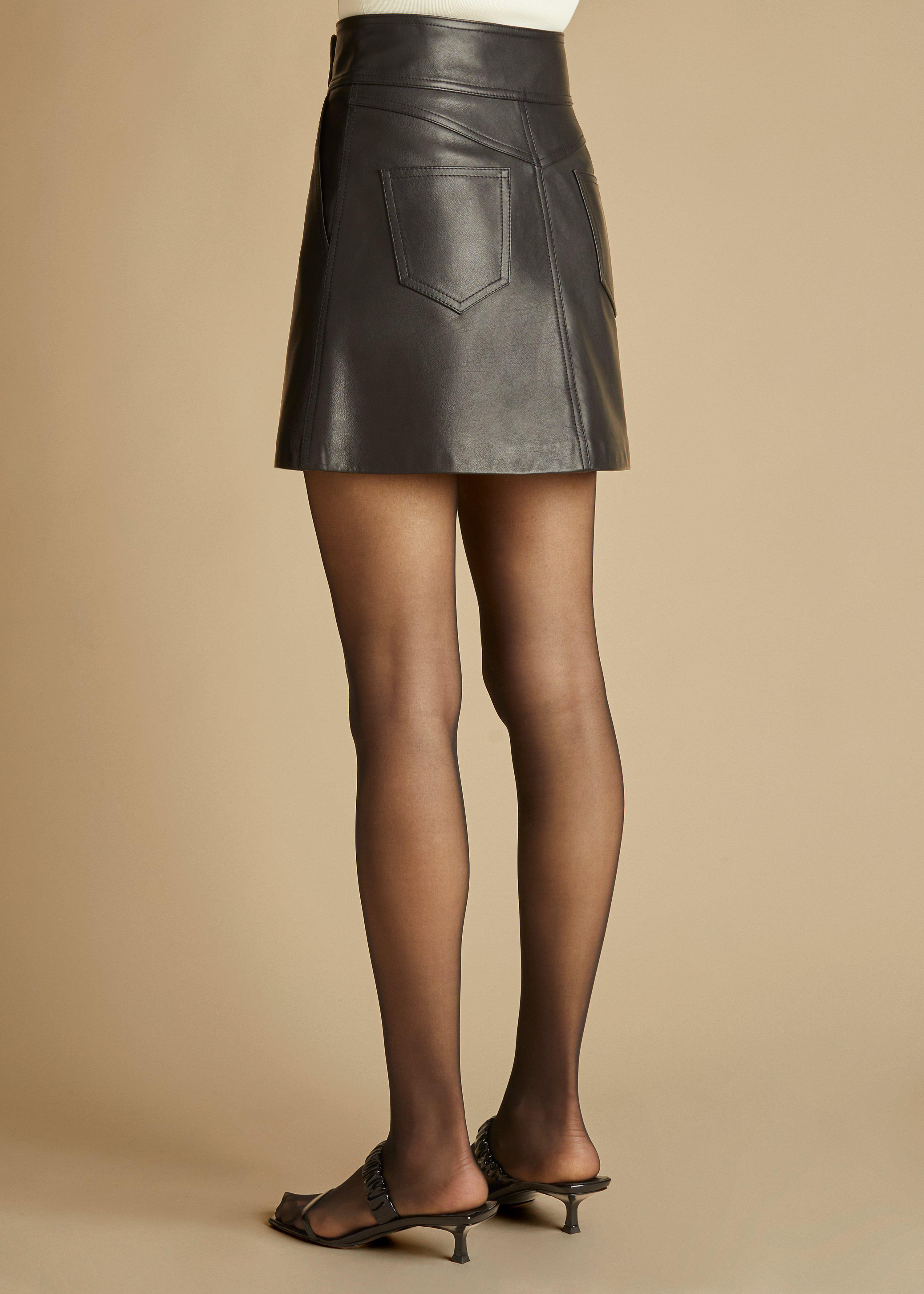 The Giulia Skirt in Black Leather 2