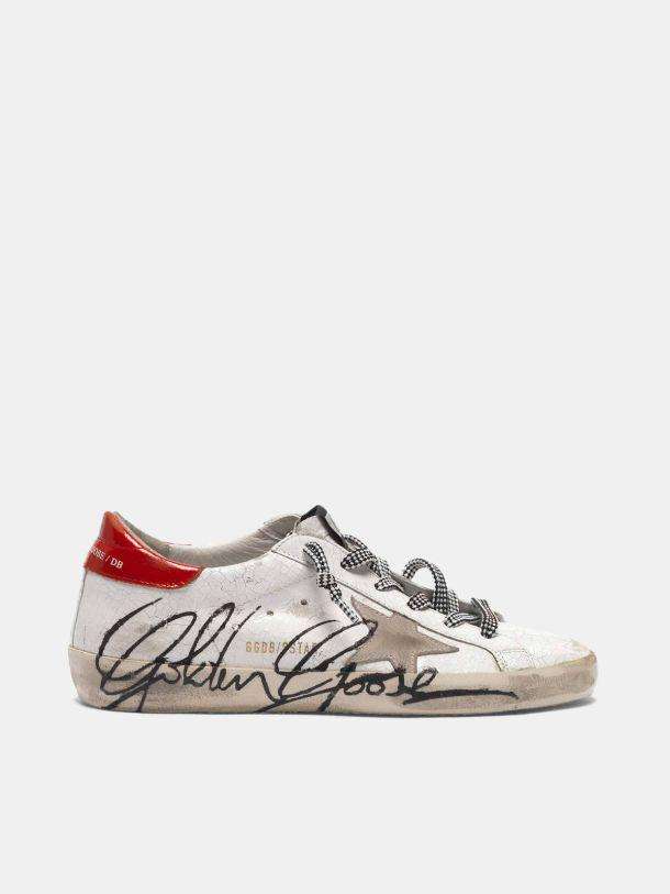 Super-Star sneakers in crackle effect patent leather