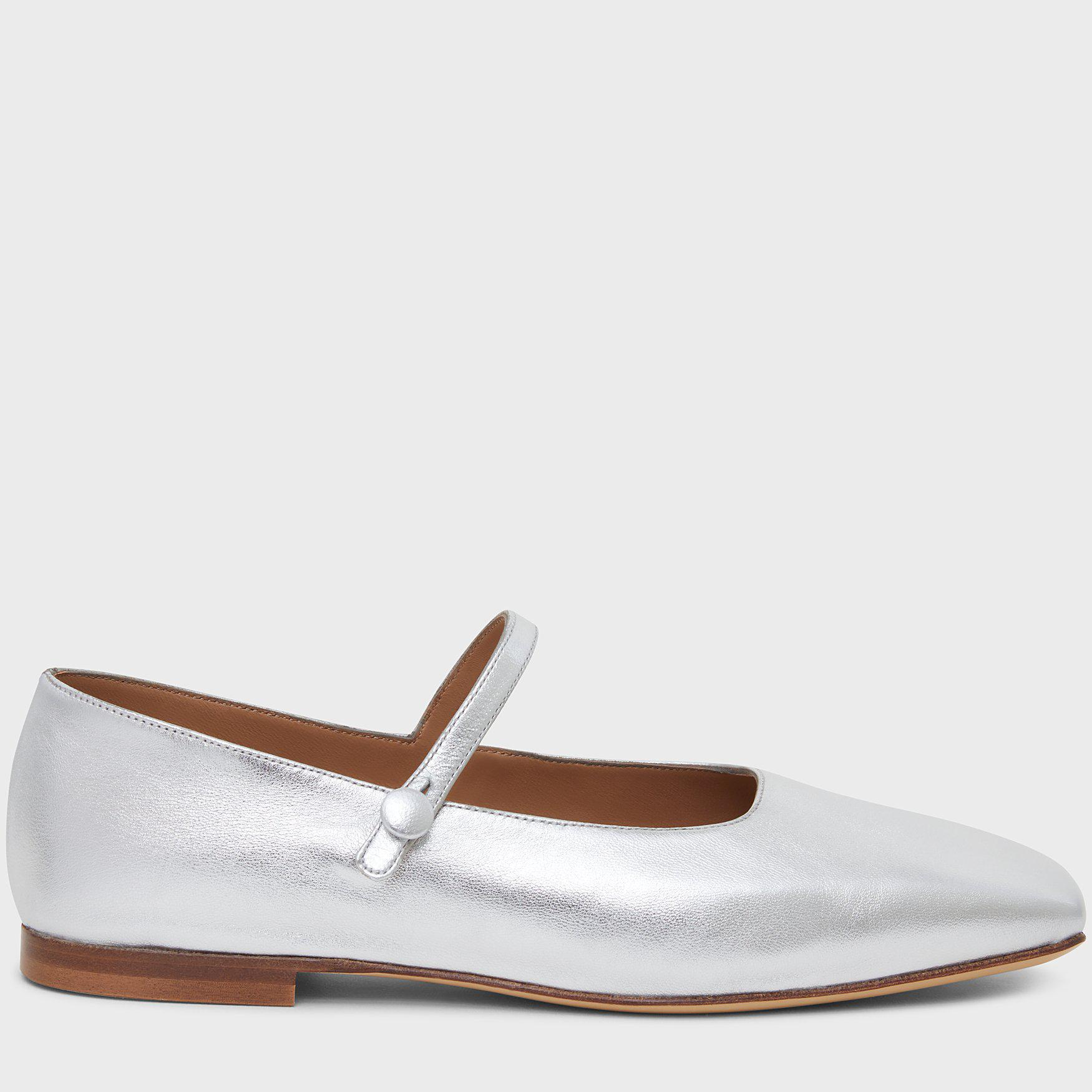 Square Toe Mary Jane - Silver