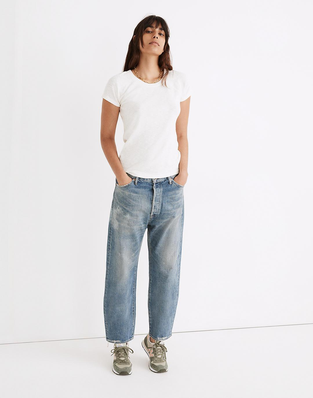 Chimala® Selvedge Wide Tapered Cut Jeans