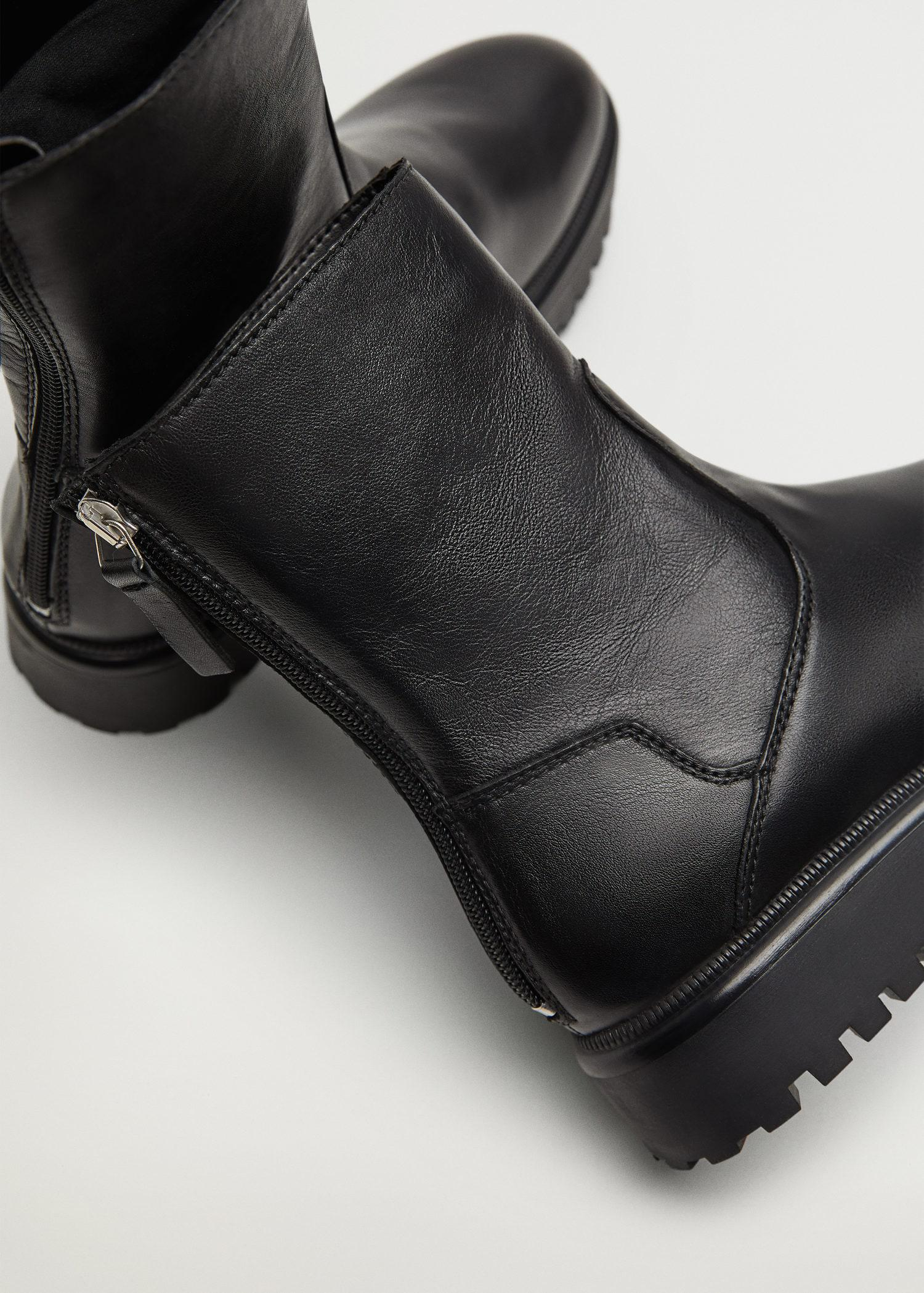 Leather boots with track sole 4