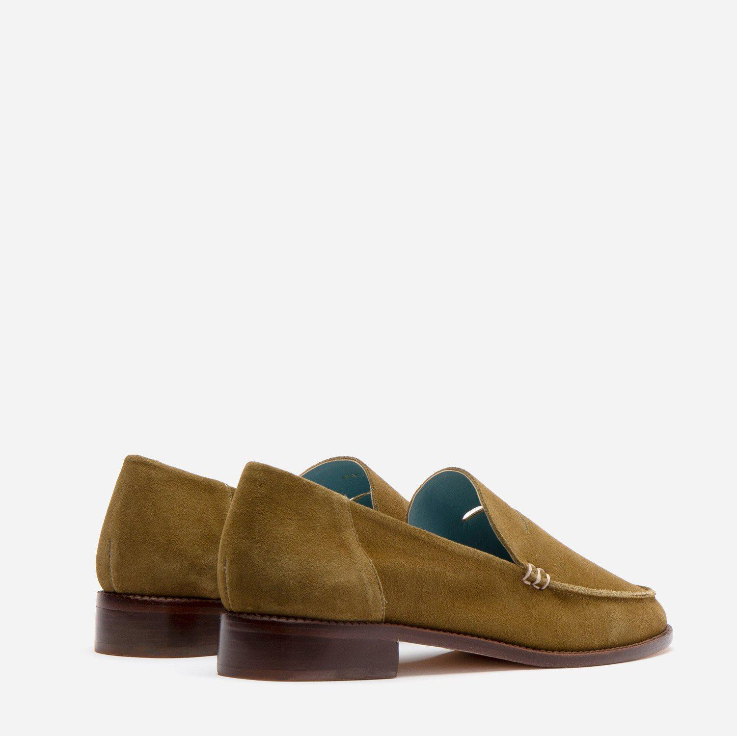 Penny Loafer Suede Moss 2