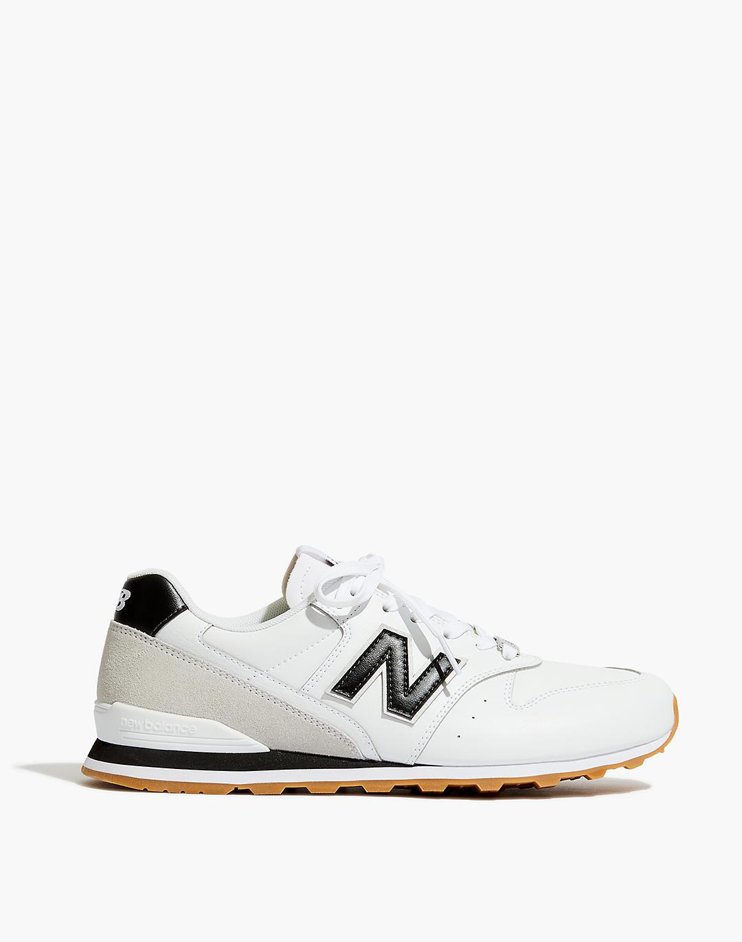New Balance® 996 Sneakers in White and Black 1
