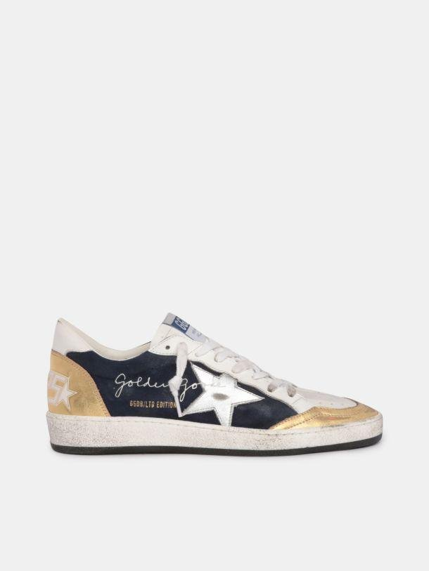 LTD Ball Star sneakers in suede with gold and silver laminated leather details