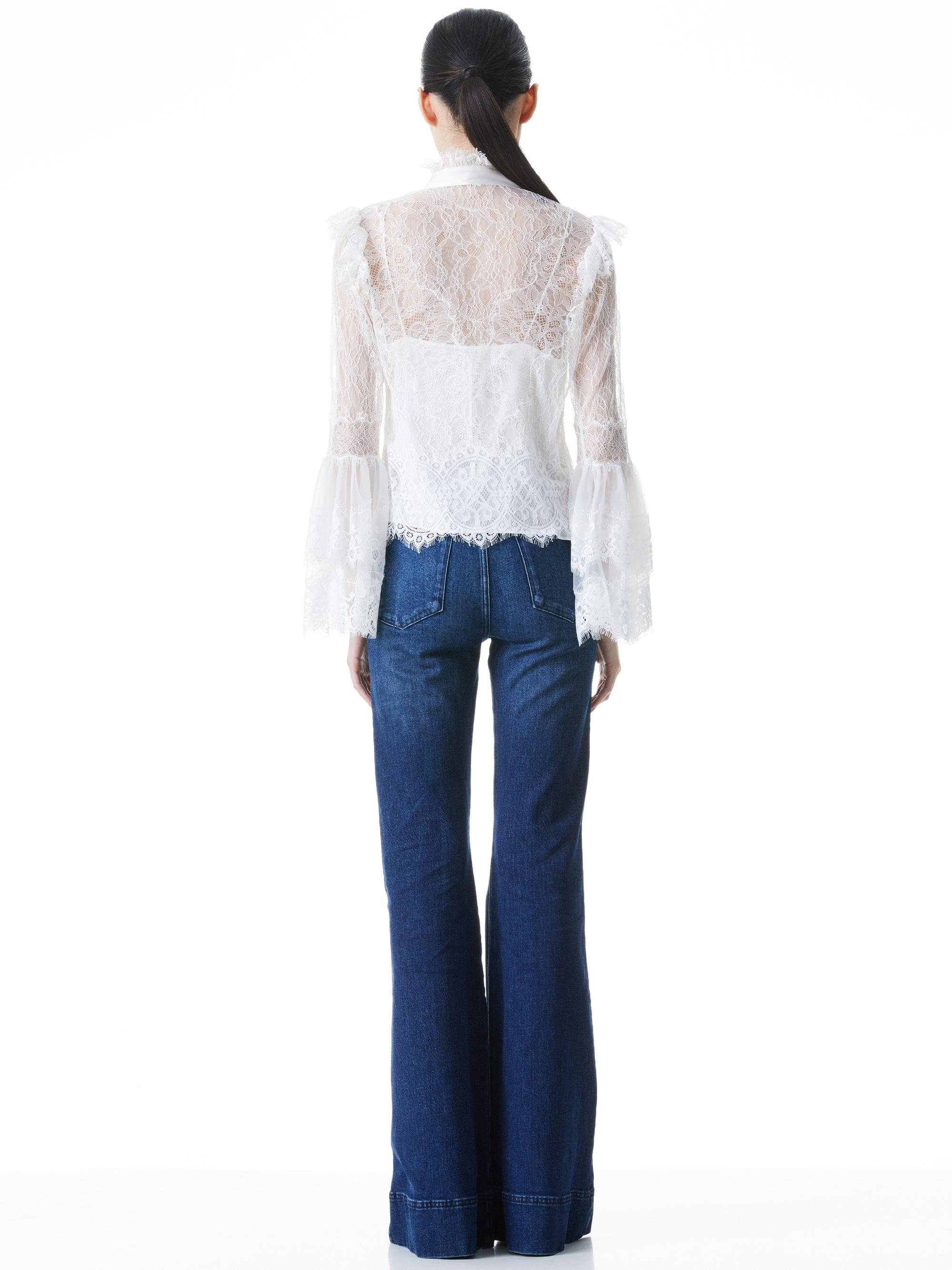 MARLINE LACE BELL SLEEVE BLOUSE