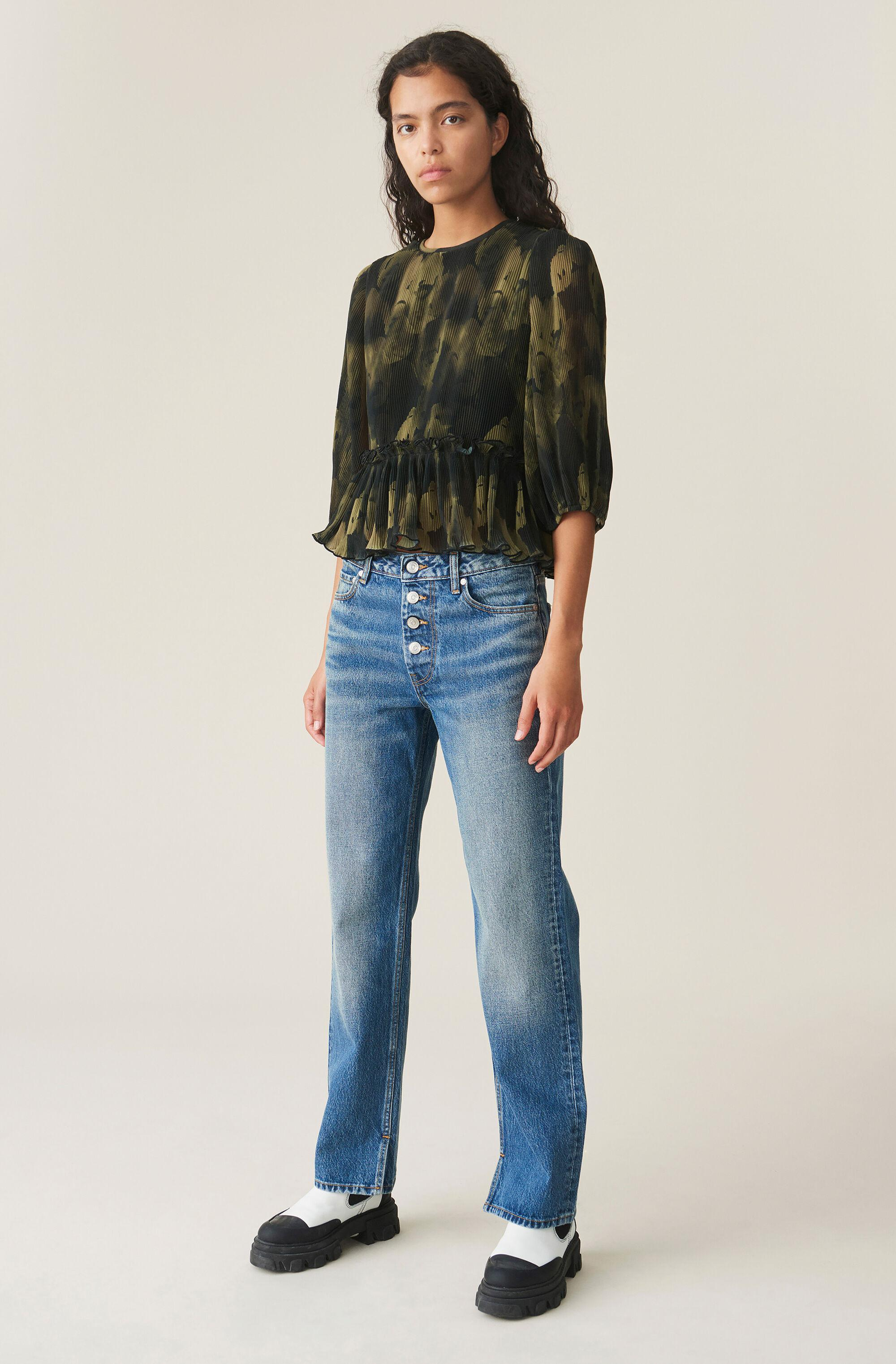 Pleated Georgette Blouse 1