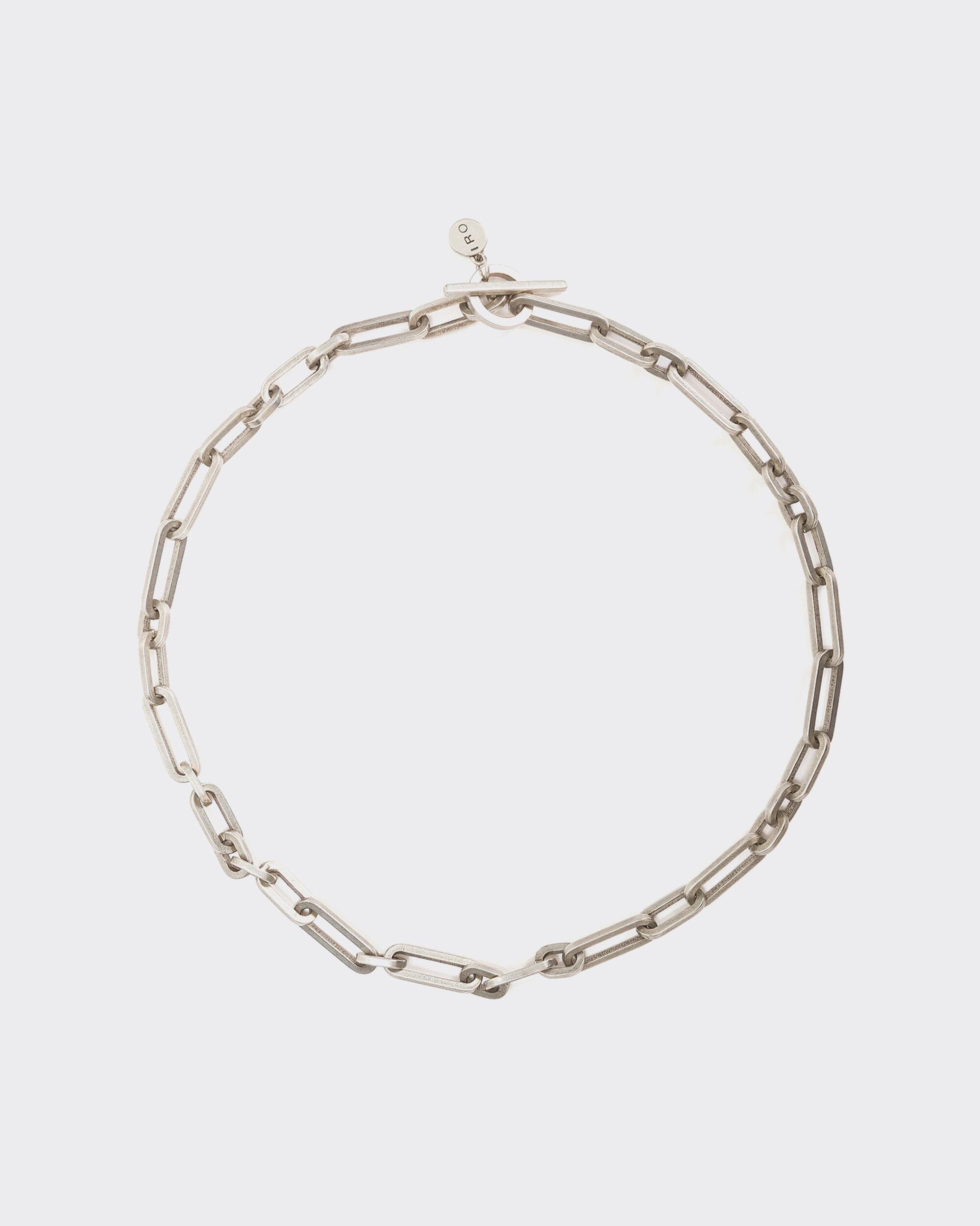 OSNIUM SILVER CHAIN NECKLACE