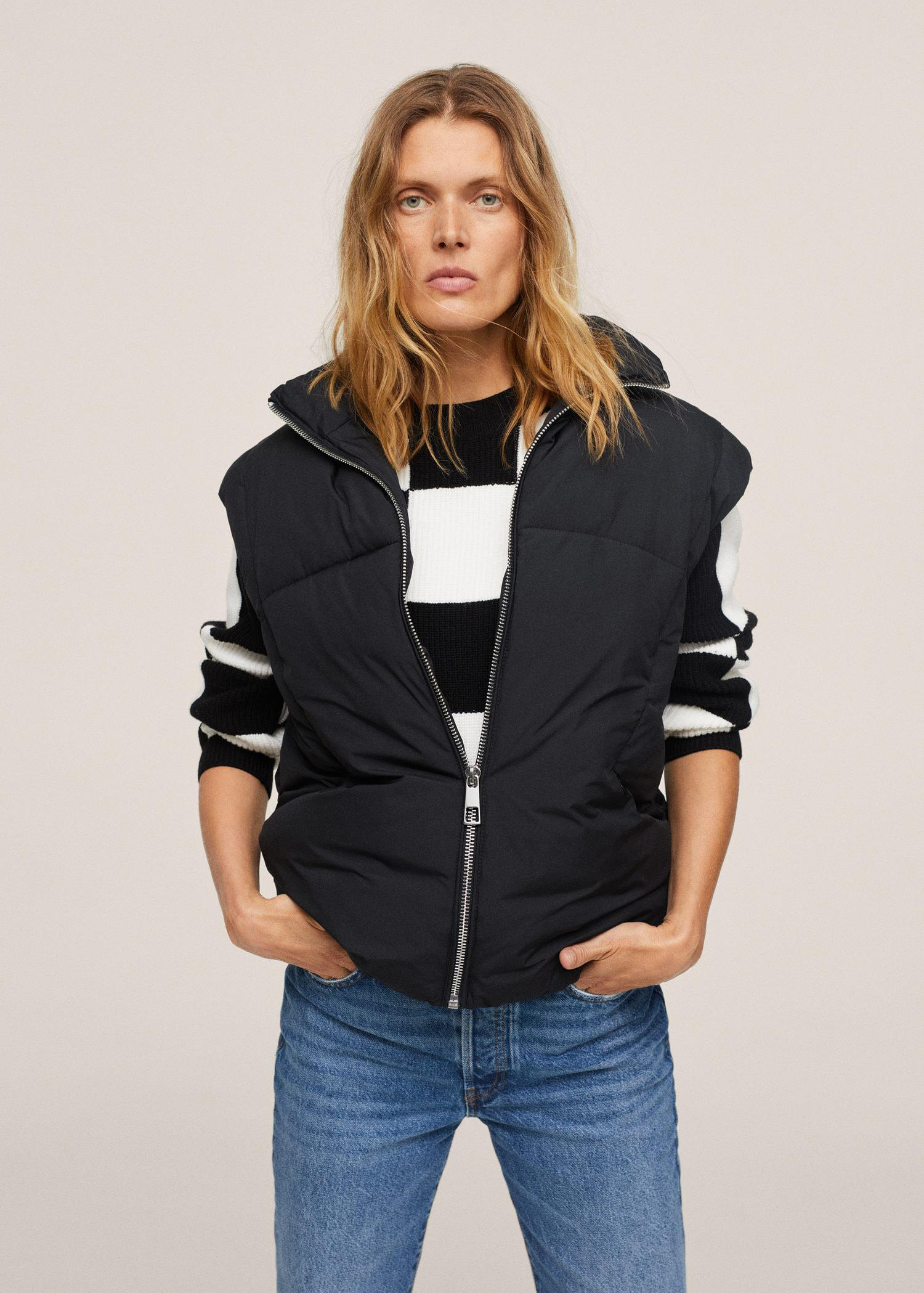 Quilted zipper gilet