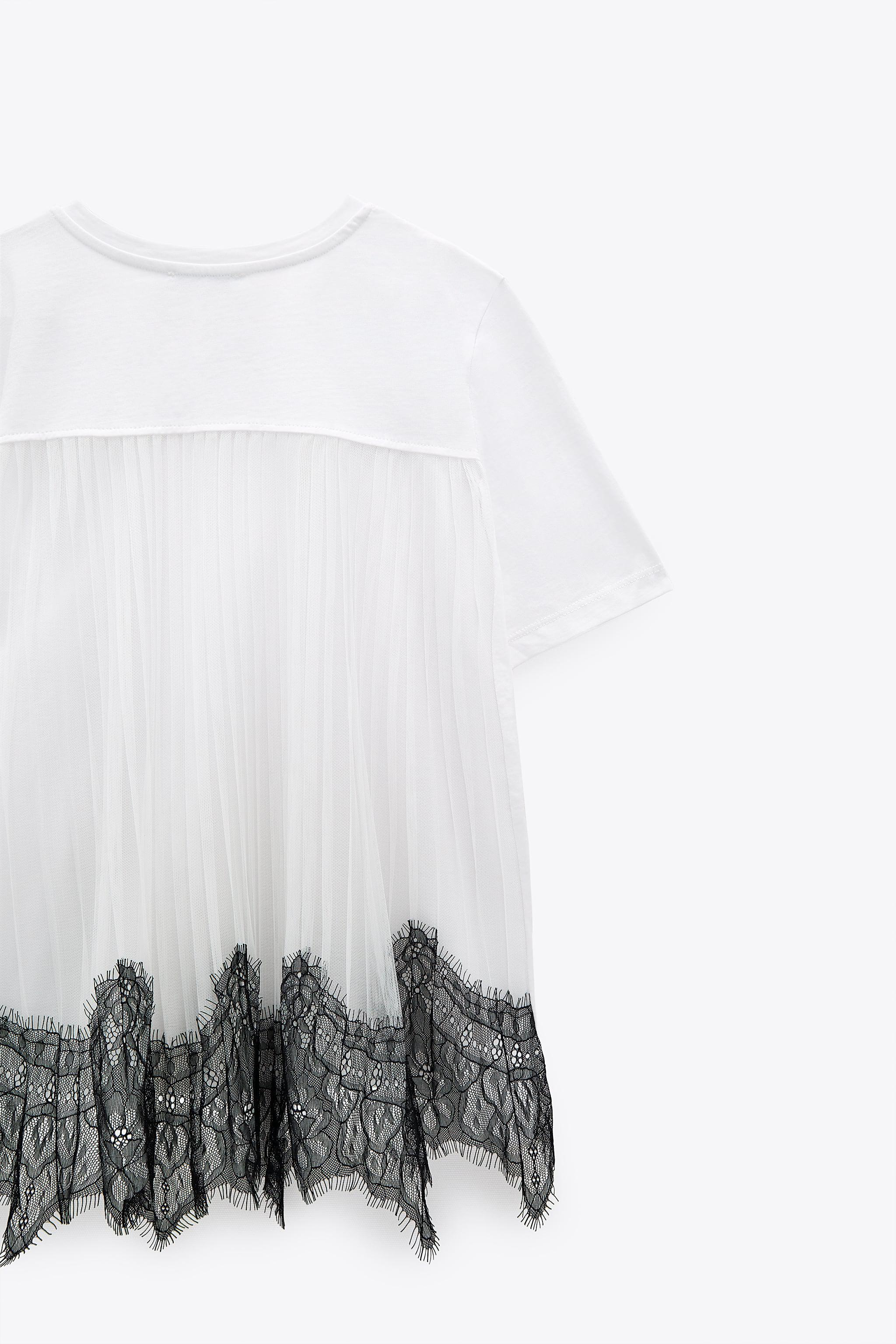 CONTRASTING LACE T-SHIRT 5