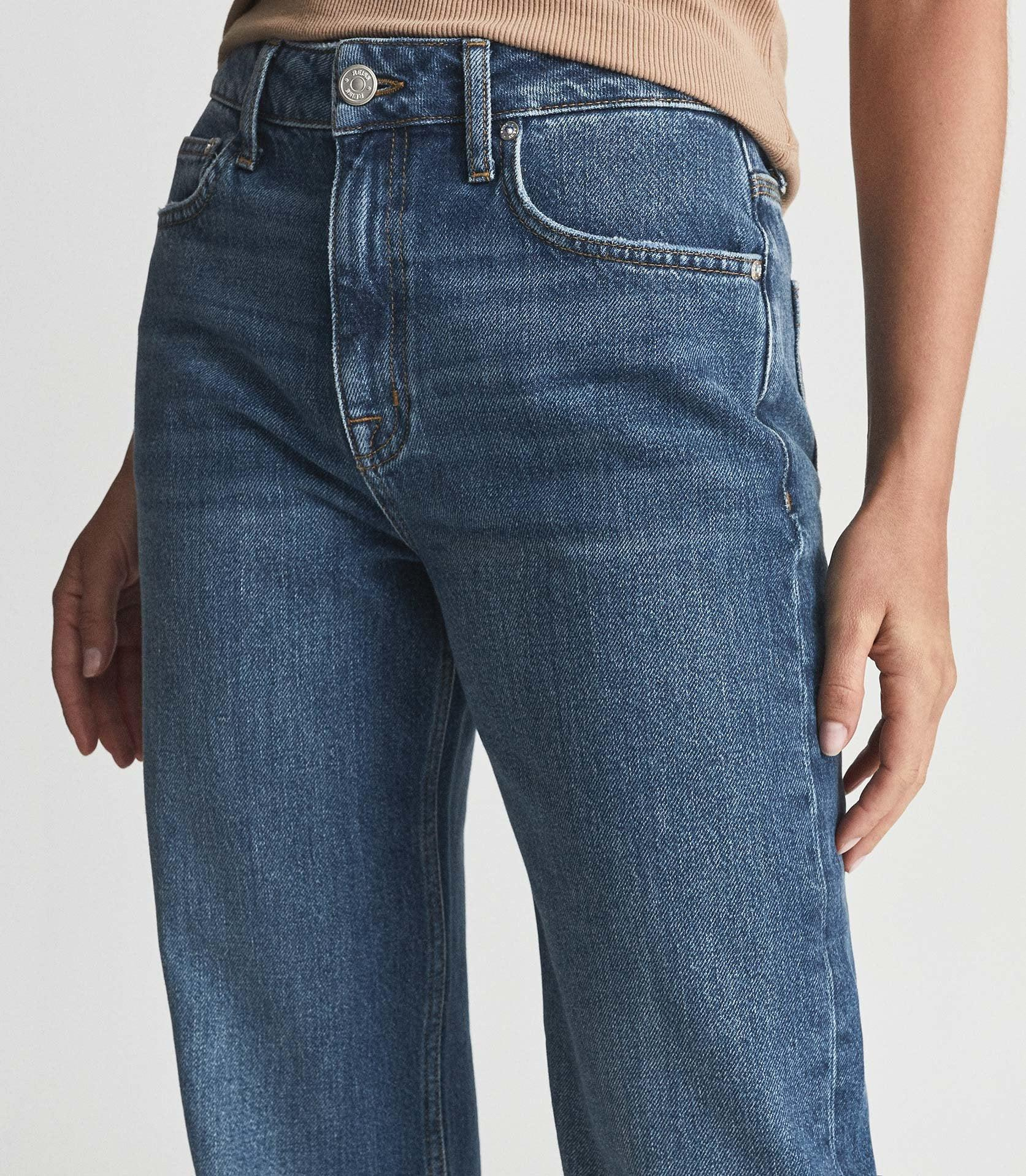 ADELE - MID RISE RELAXED WIDE LEG JEANS 4