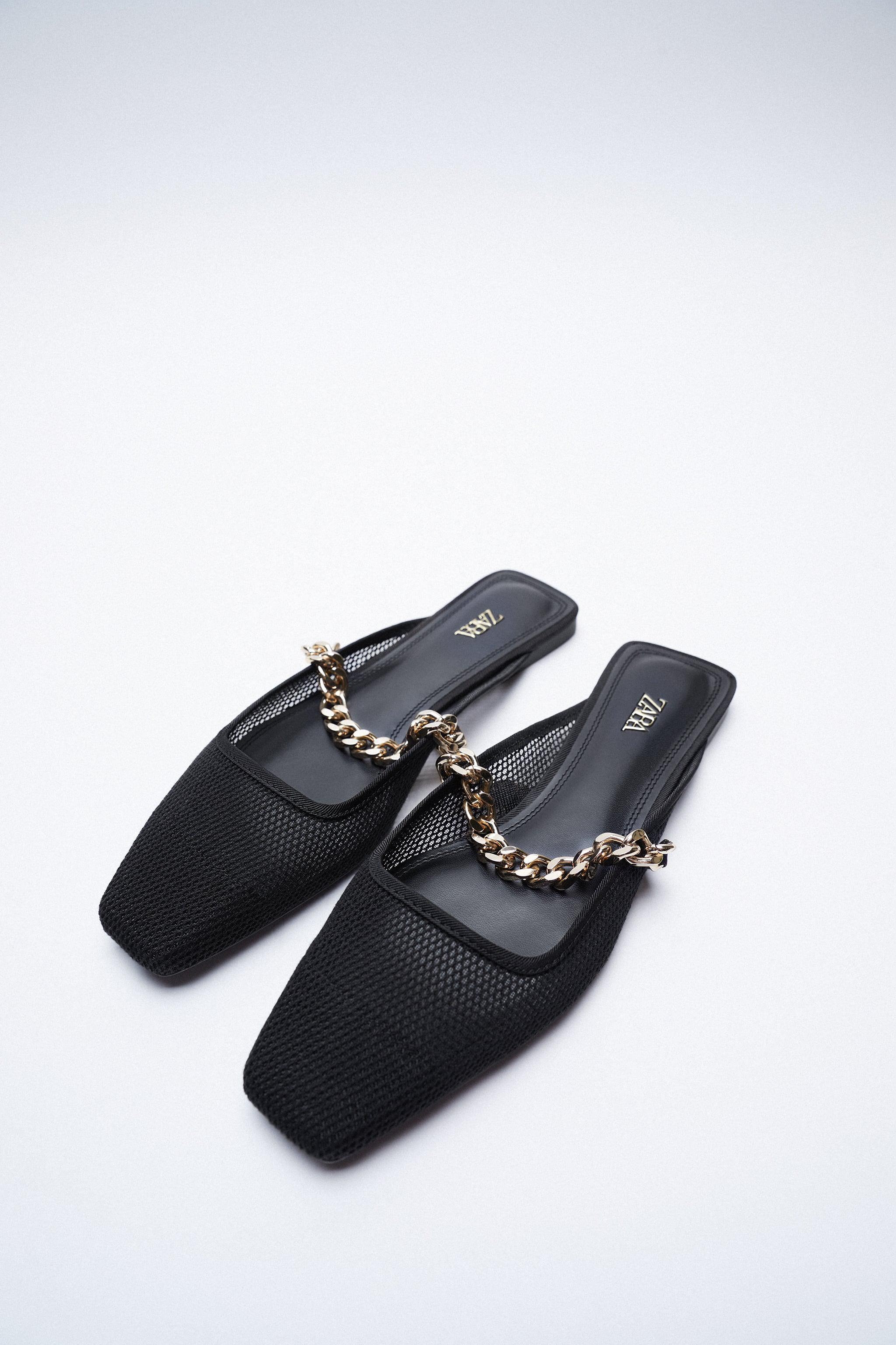 MESH SLIDE SHOES WITH CHAIN 2