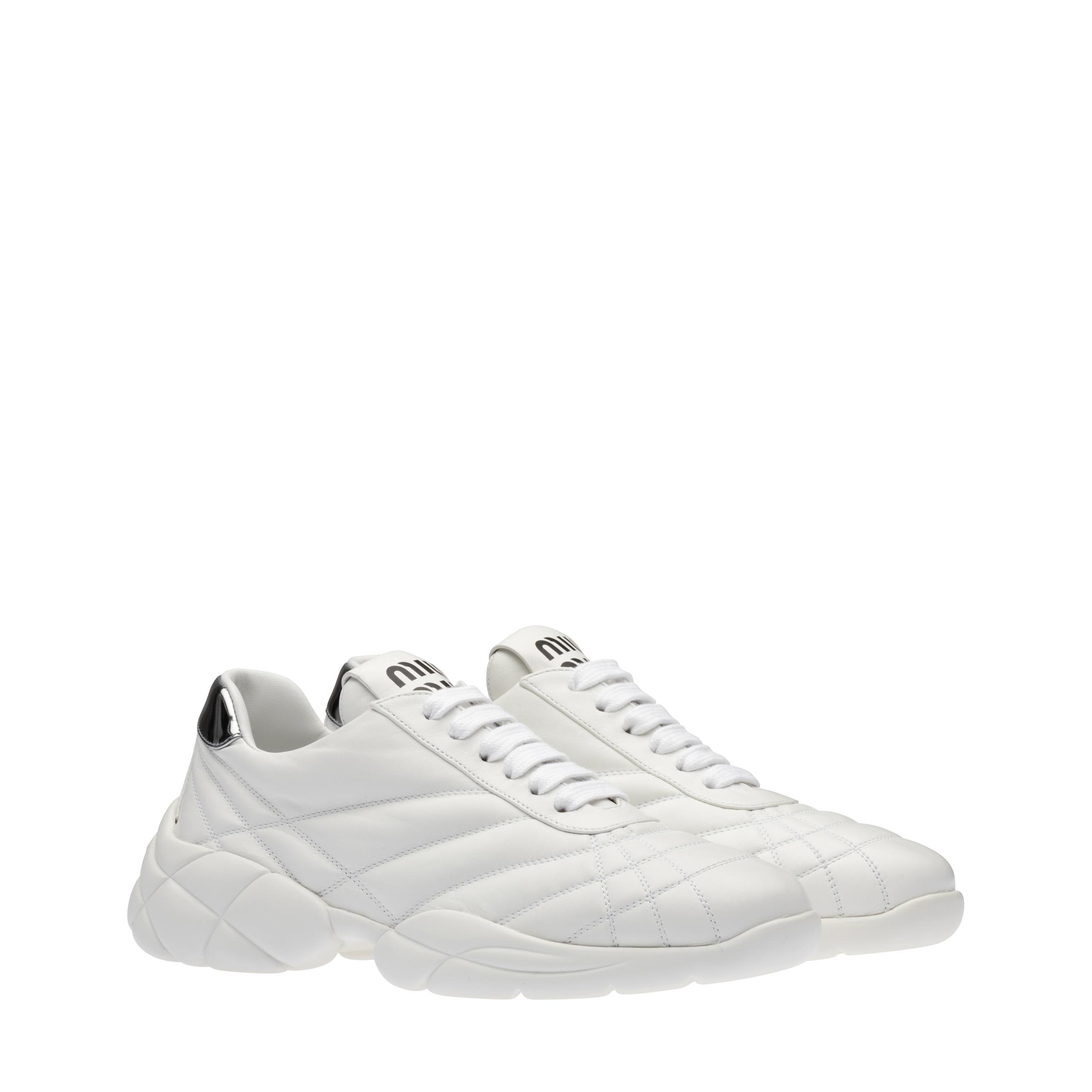 Nappa Leather Sneakers Women White