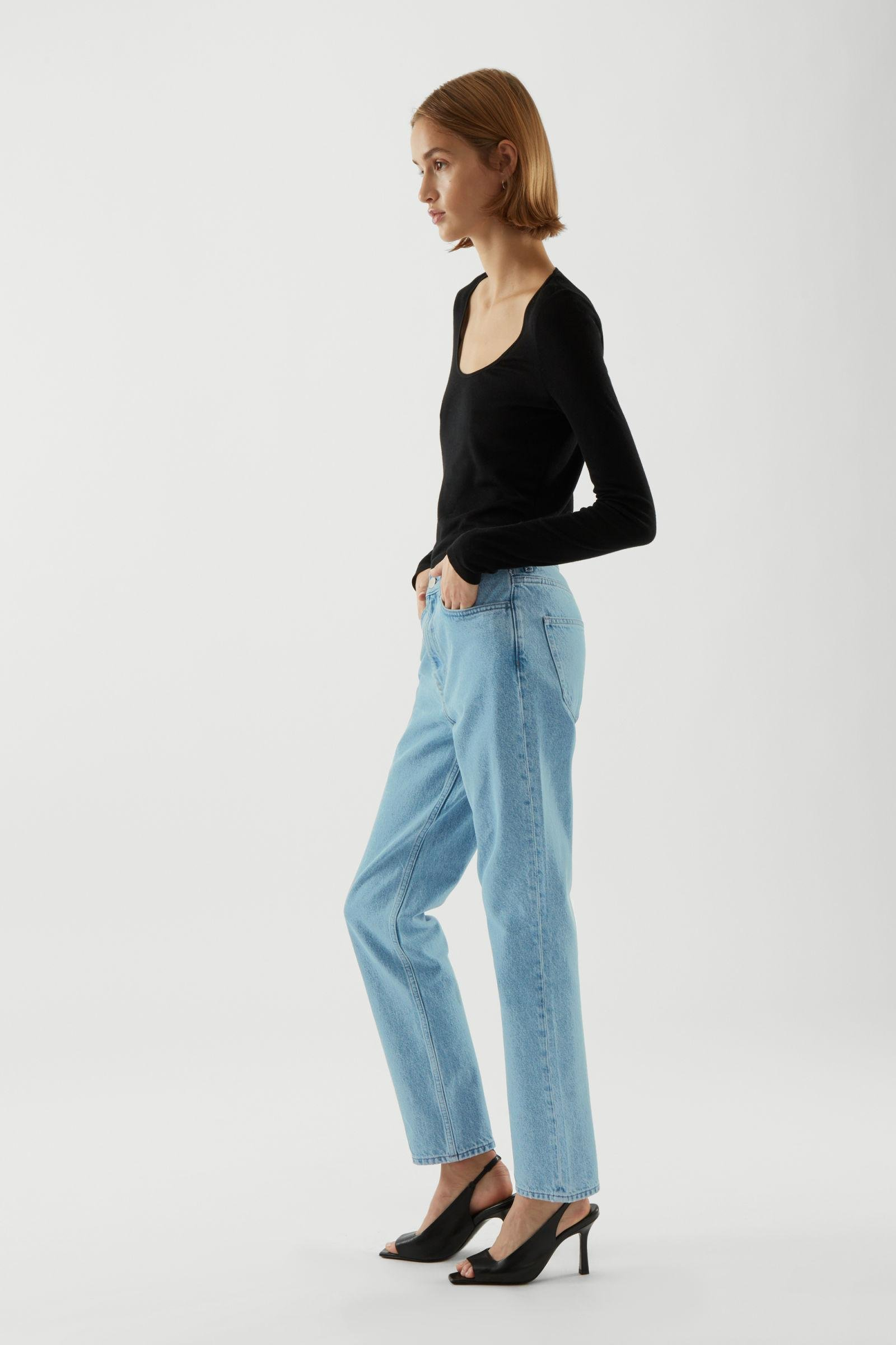 CROPPED STRAIGHT JEANS 3