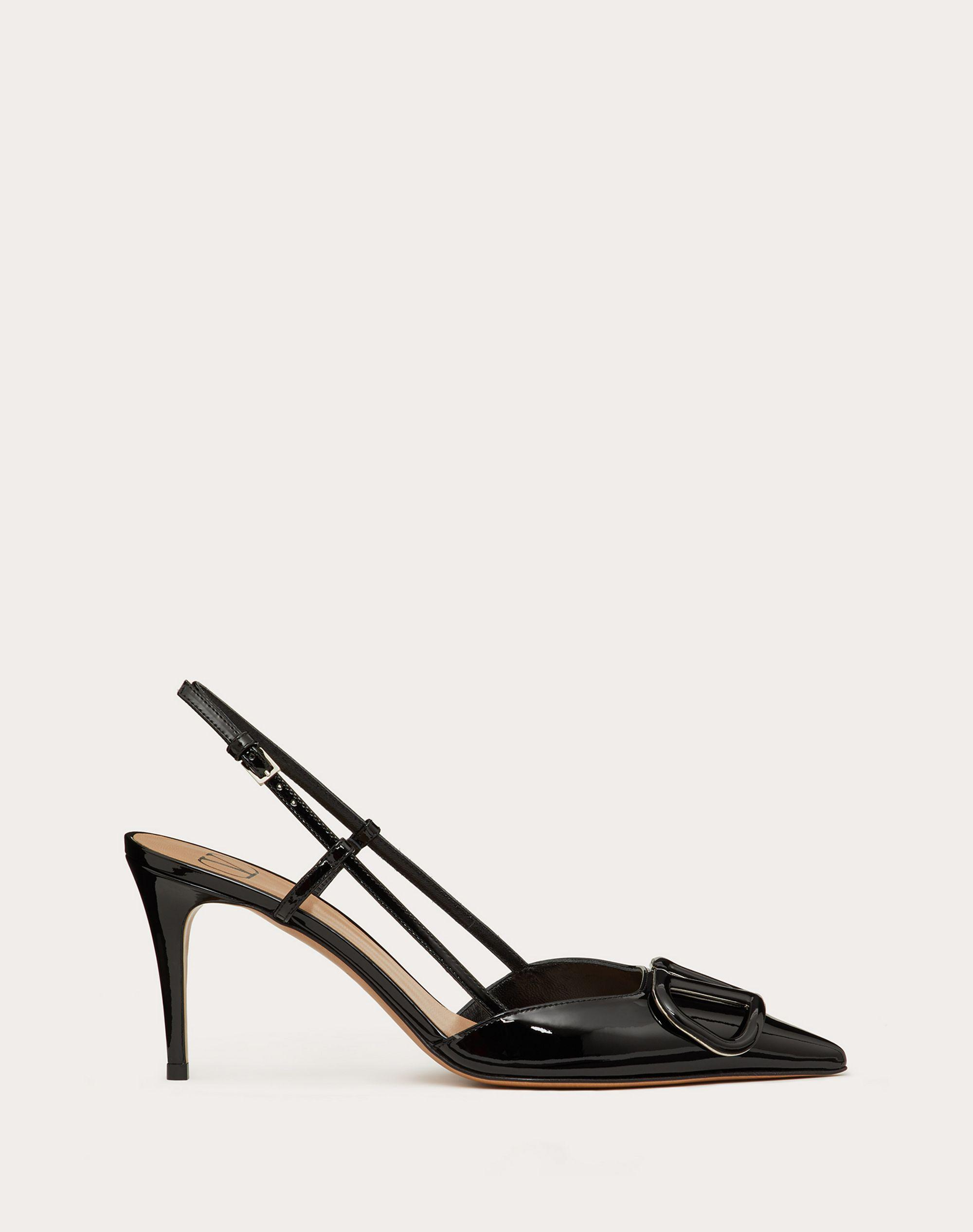 VLogo Signature Patent Leather Slingback Pump 80mm / 3.15 in.