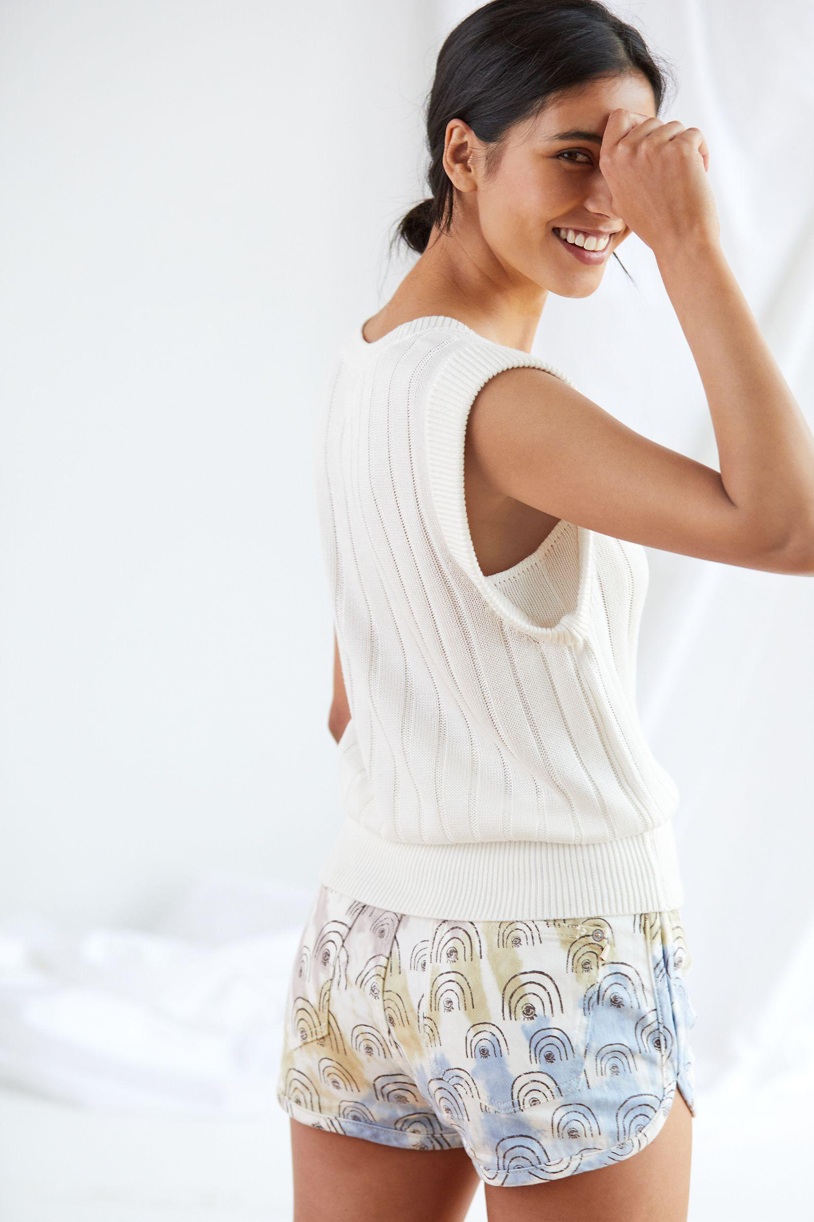 Maeve Banded Knit Tank 2