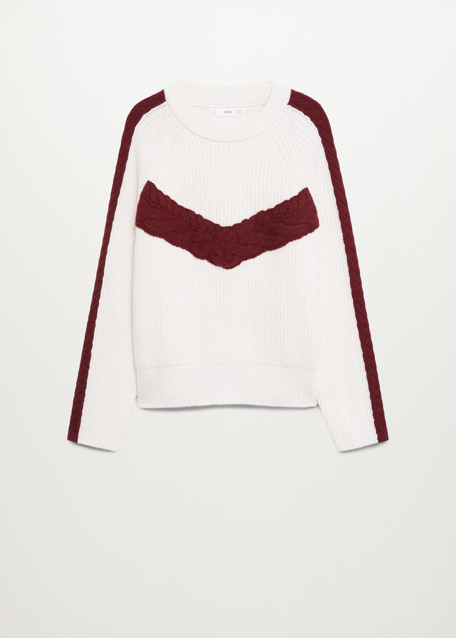 Contrasting knit sweater 7