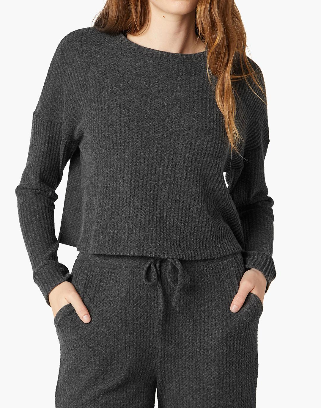 Beyond Yoga Brushed Up Cropped Pullover 3