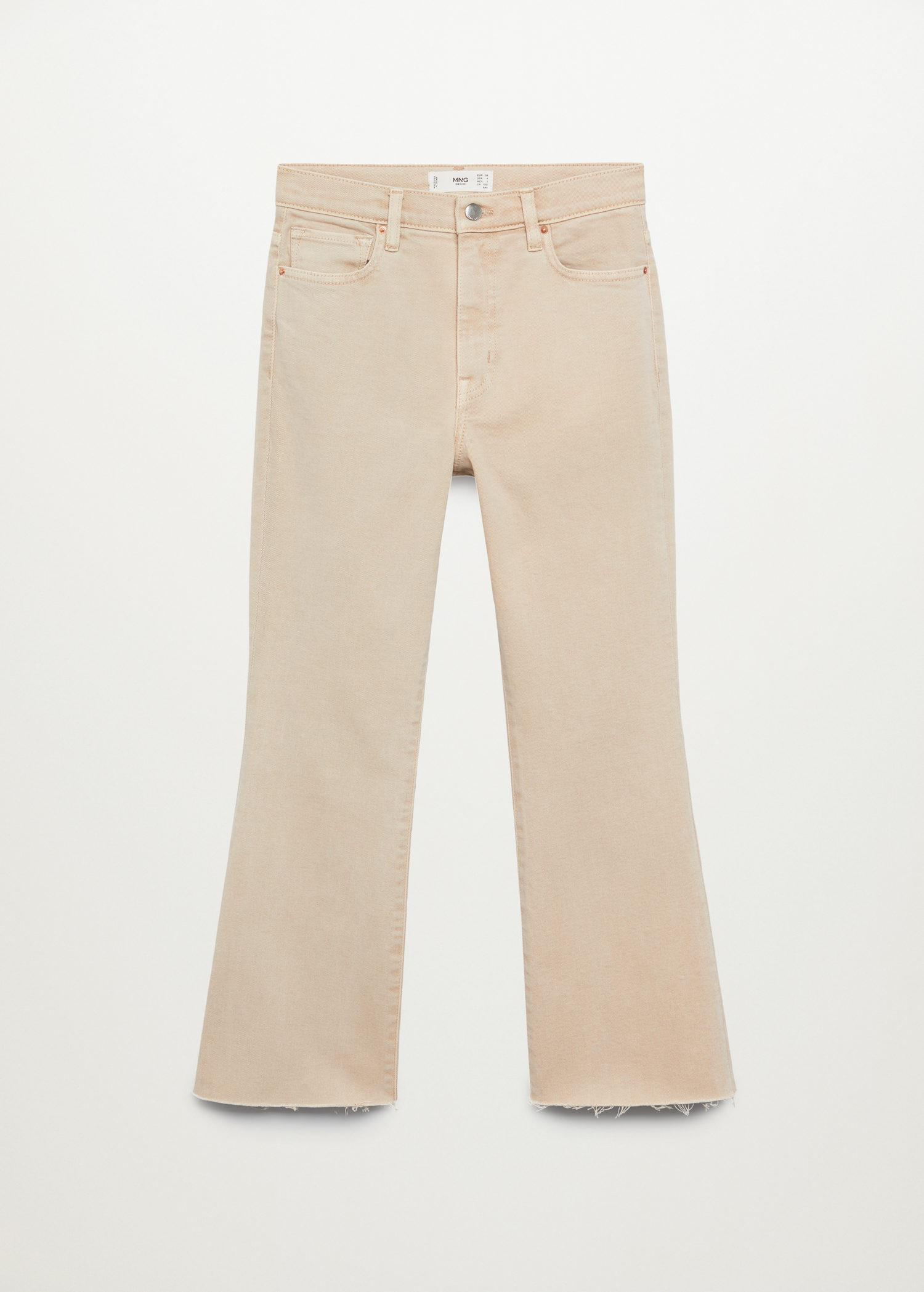 Crop flared jeans 8