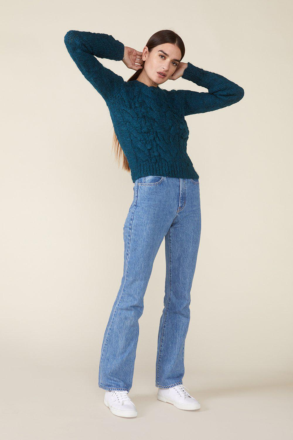OSSIE SWEATER, TEAL 3