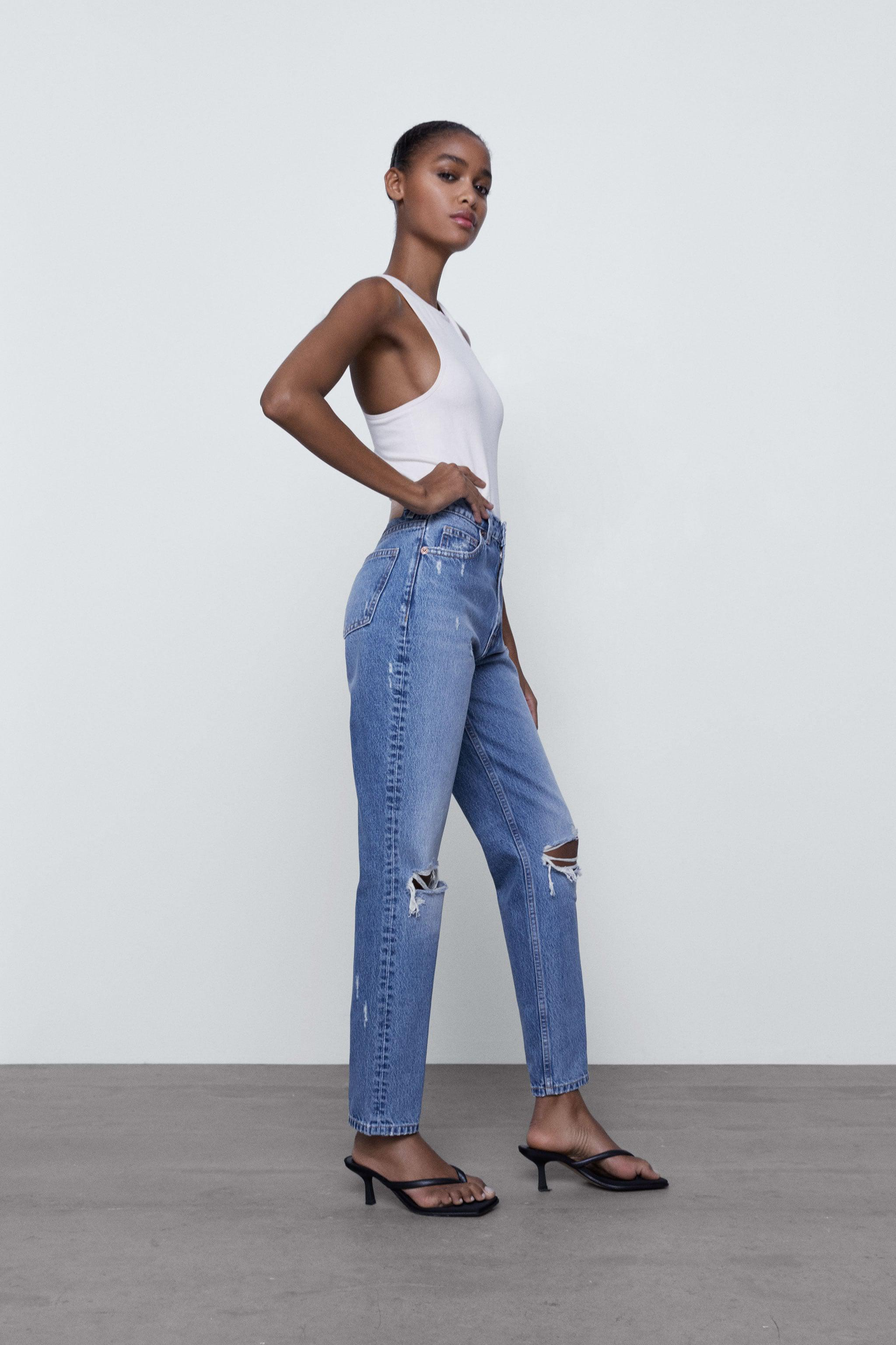 RIPPED MOM FIT JEANS 3