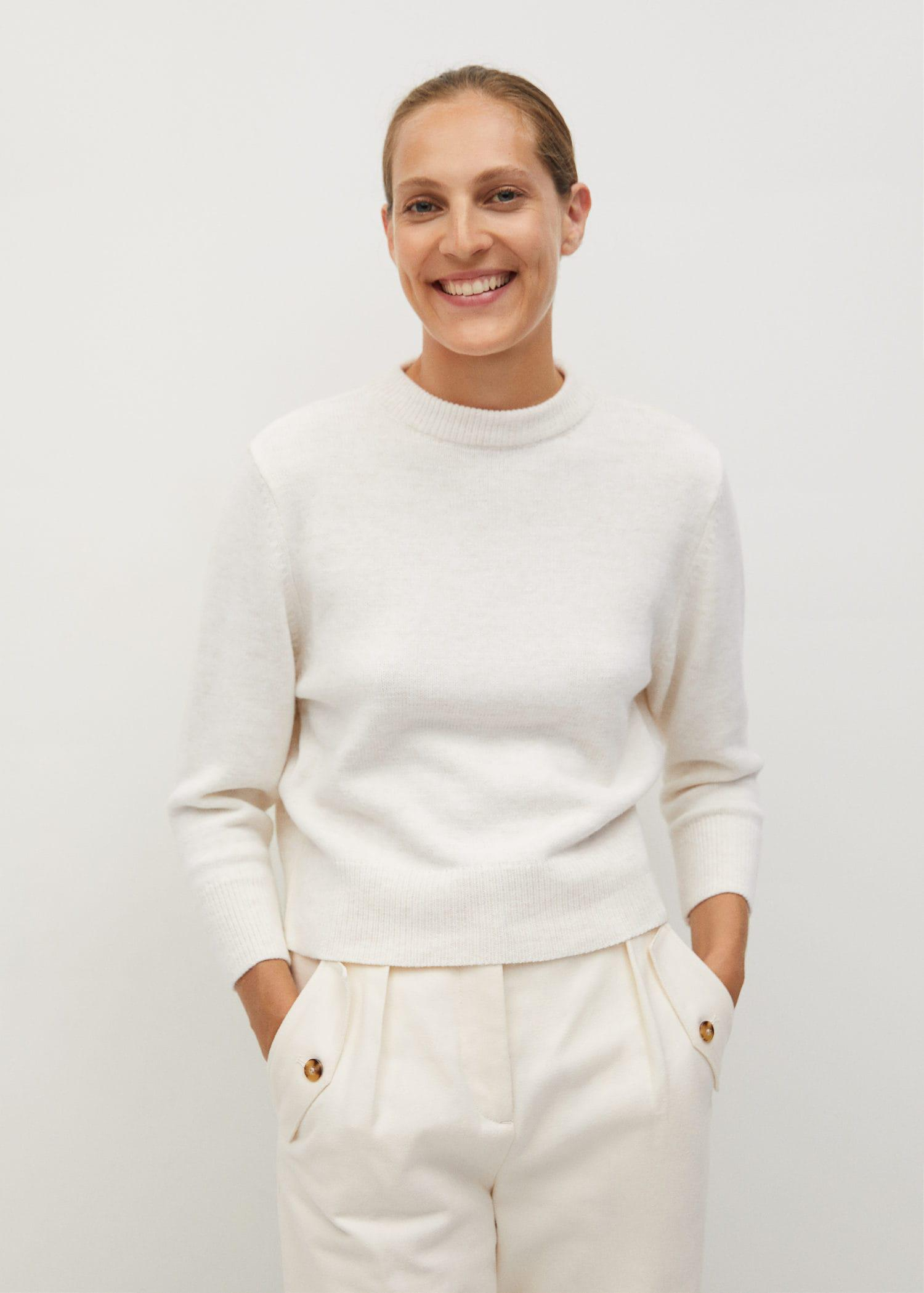 Back vent sweater