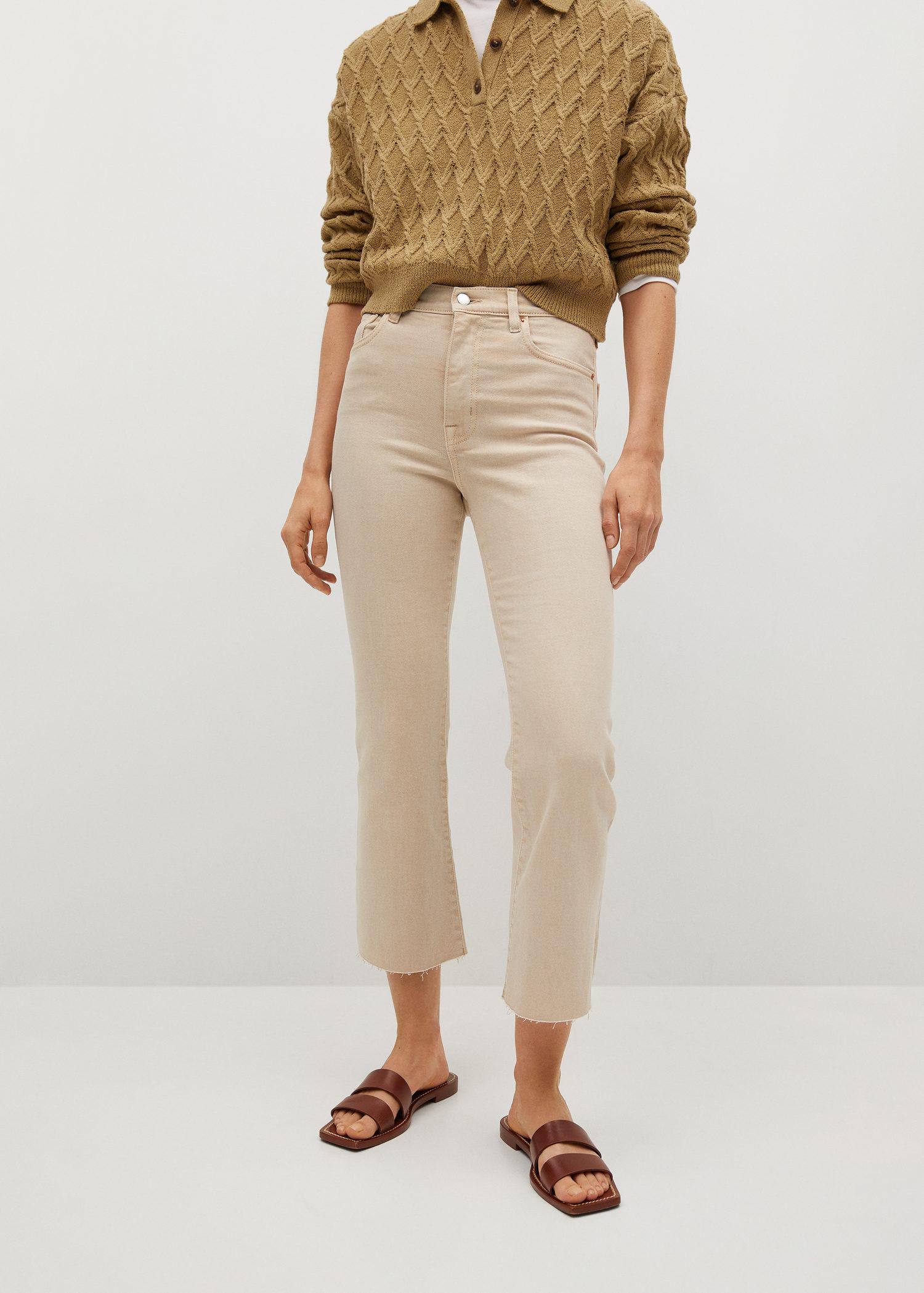 Crop flared jeans 0