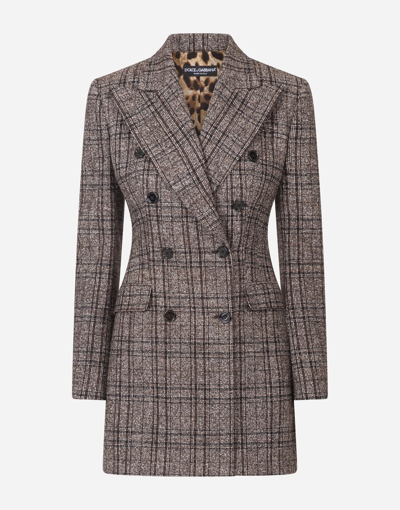 Double-breasted jacket in checked tartan 4