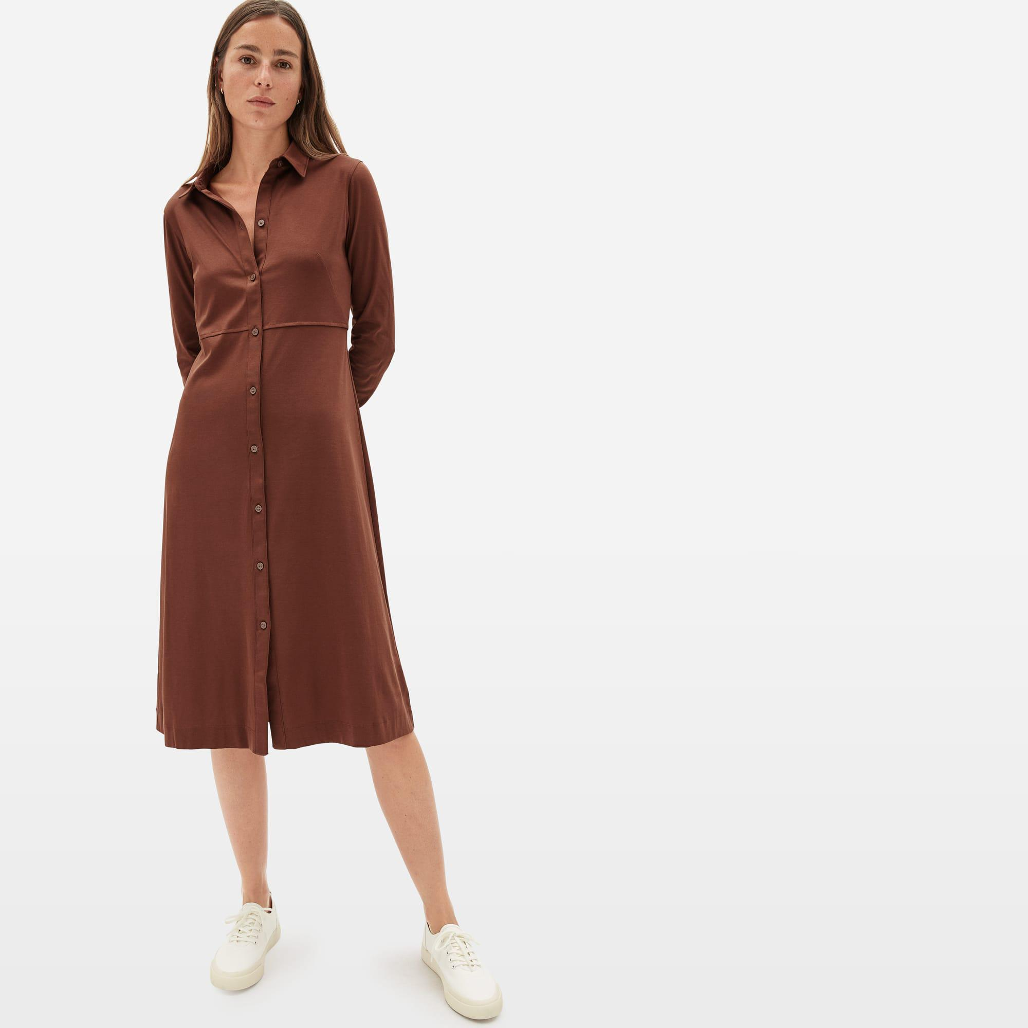 The Luxe Cotton Shirtdress