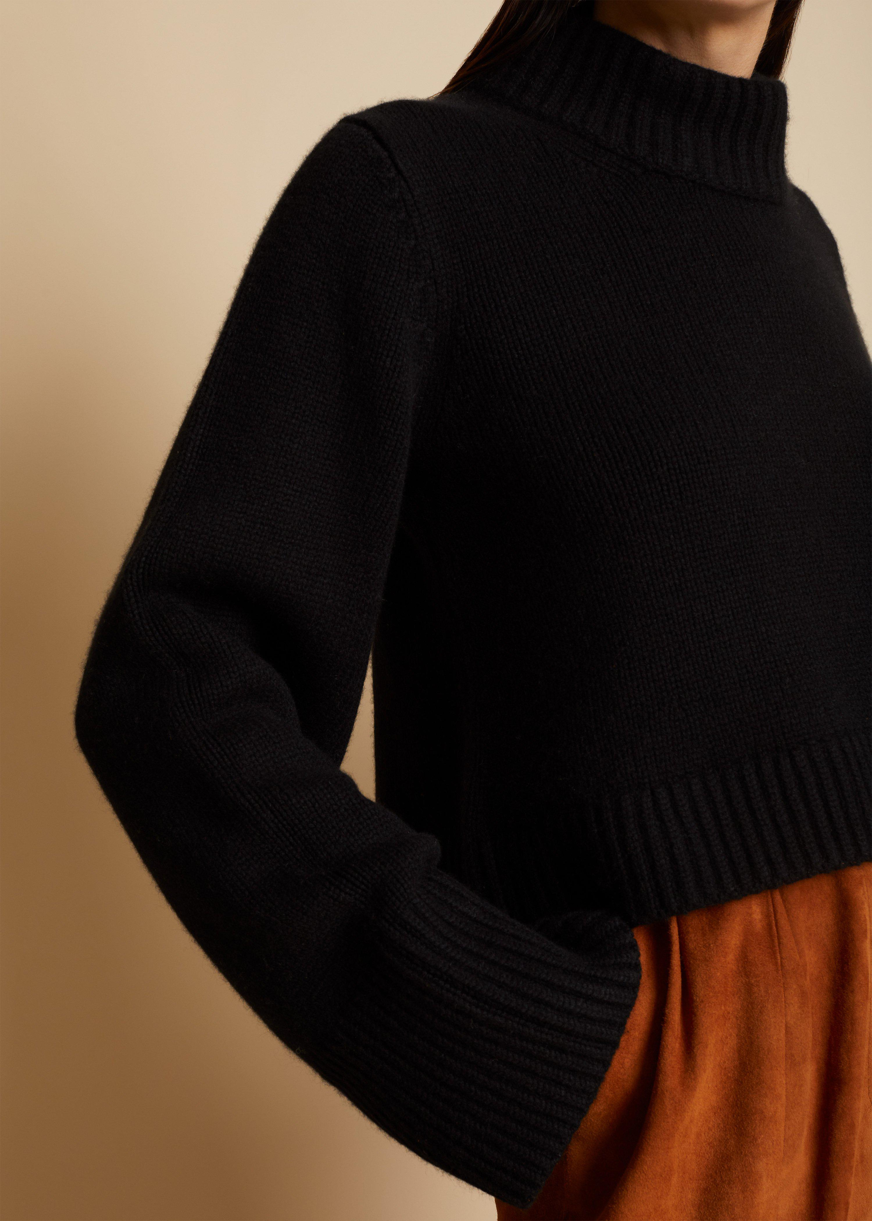 The Lima Sweater in Black 4