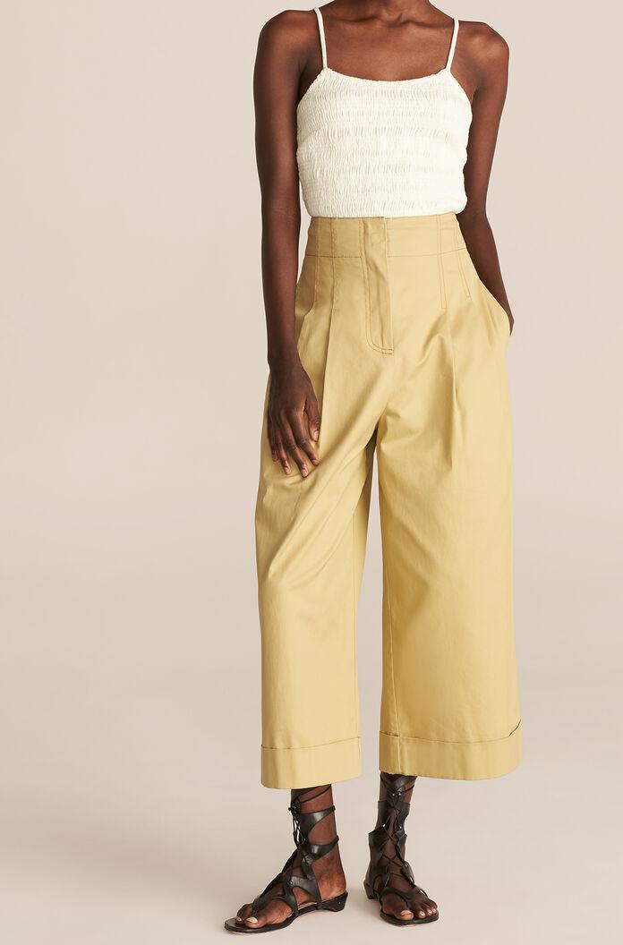 COMPACT TWILL FLARE PANT 1