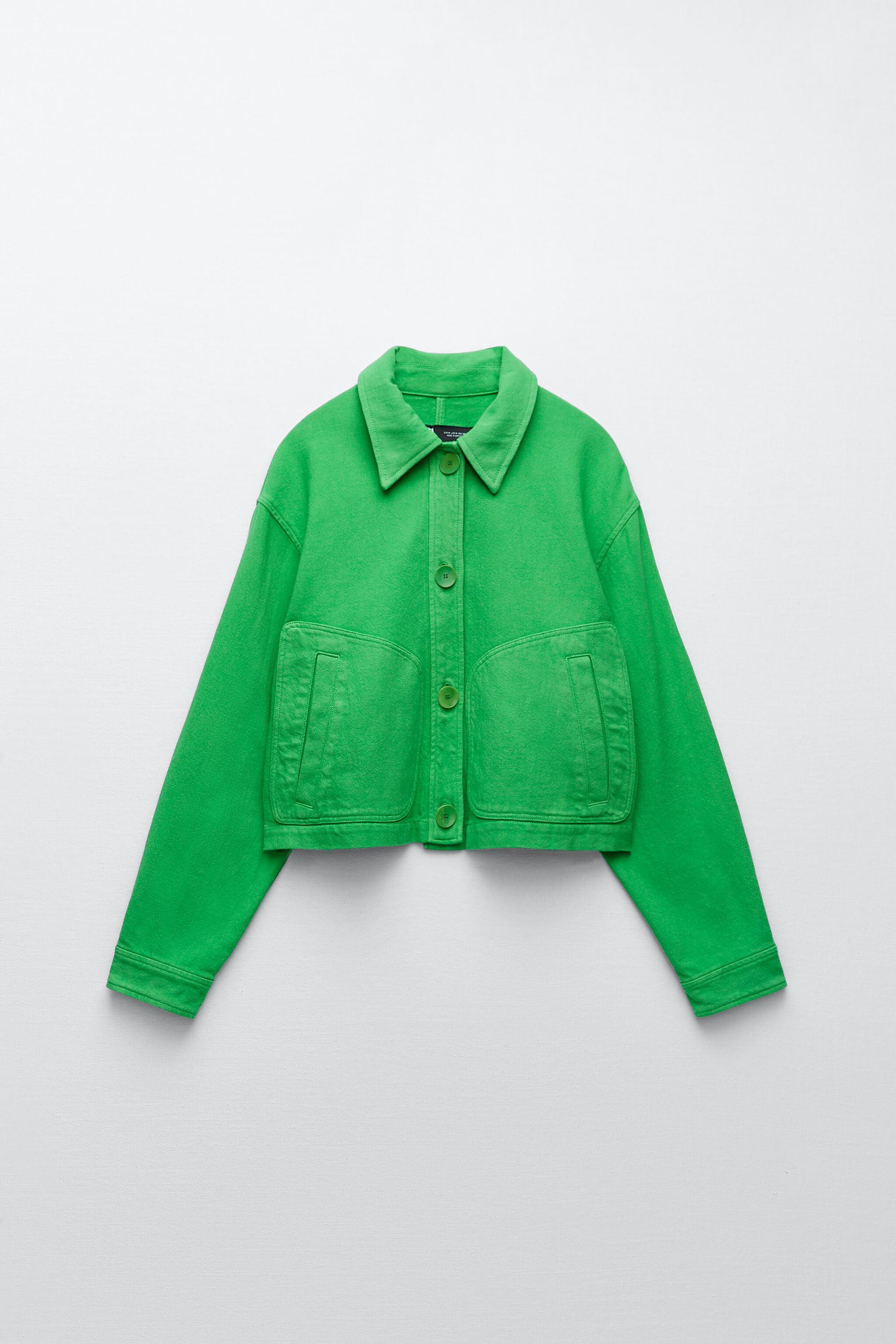 SOLID COLOR CROPPED JACKET 6