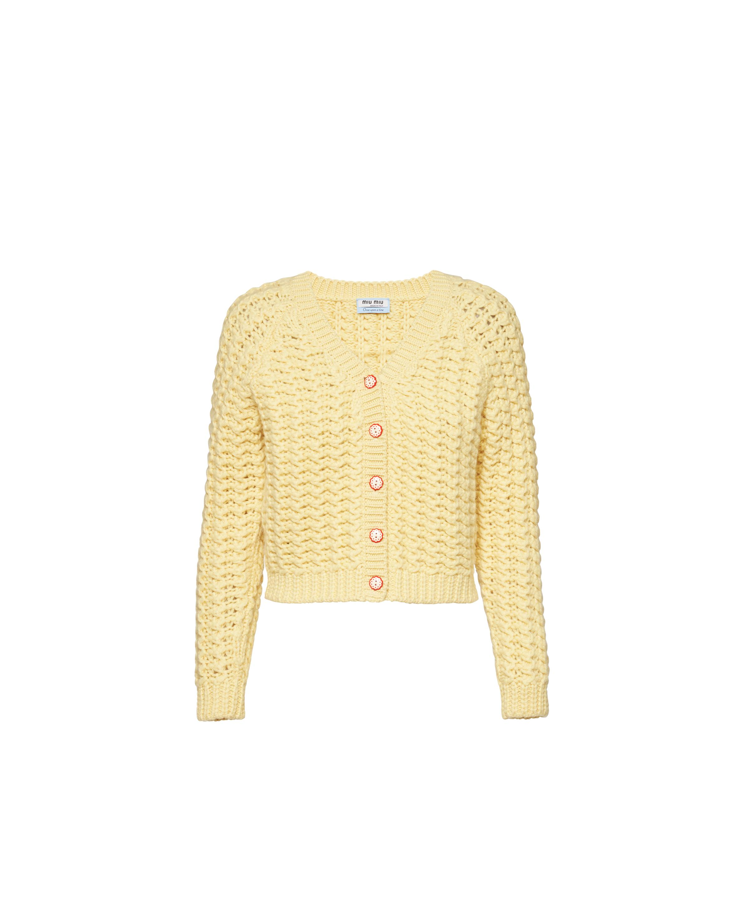 Once Upon A Time Cashmere Cardigan Women Pollen Yellow