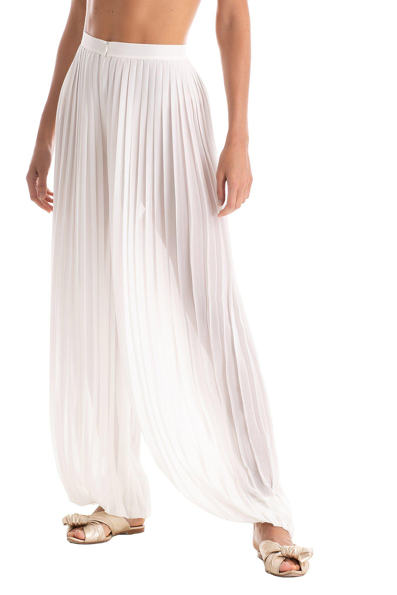 Solid Pleated Pants 1