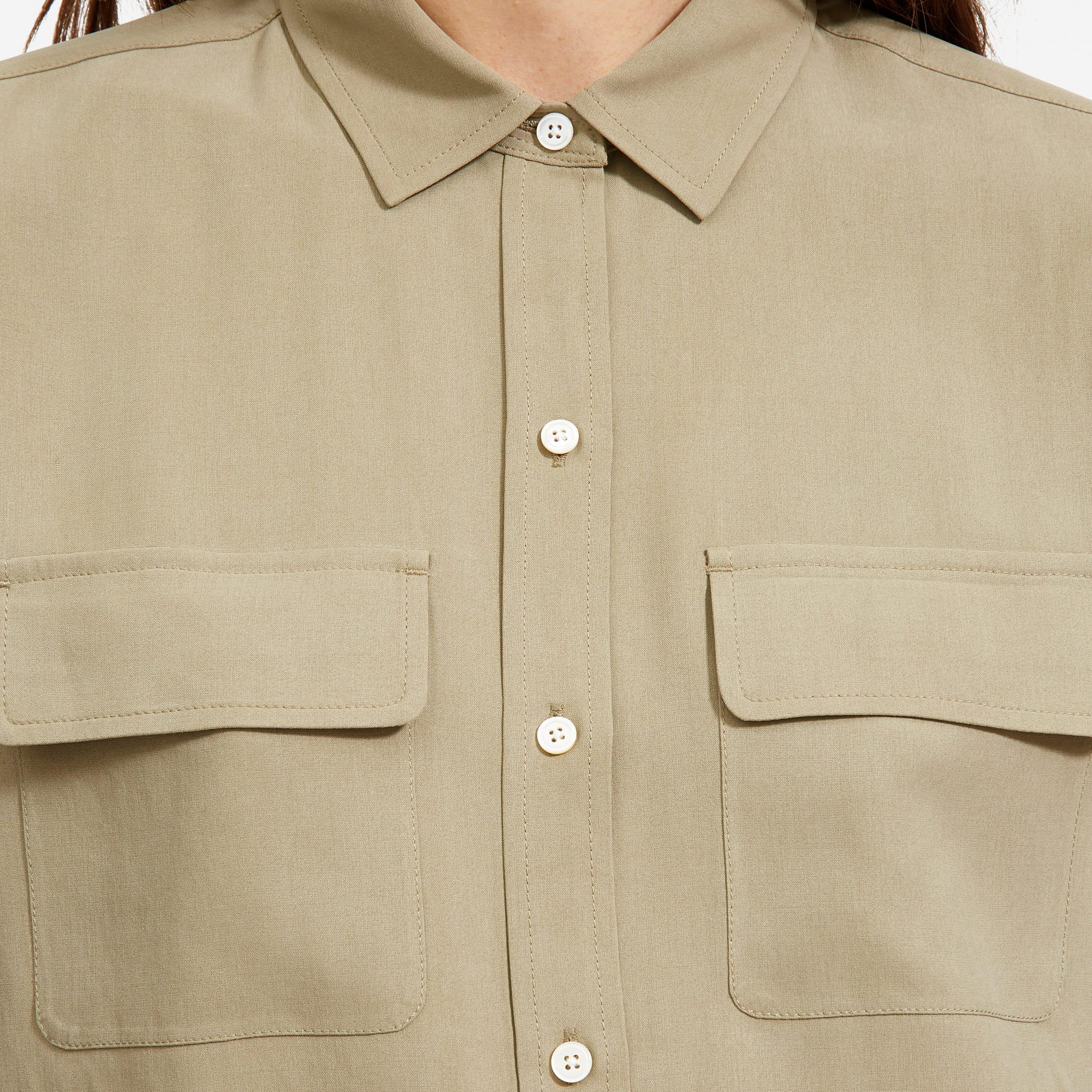 The Washable Silk Relaxed Shirt  5