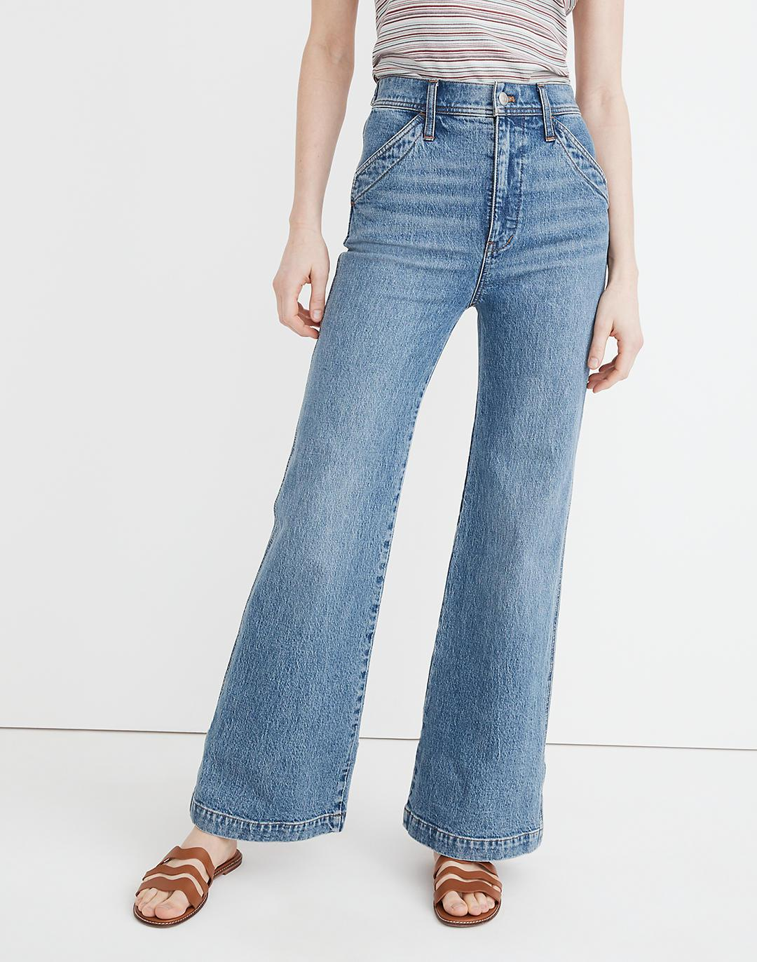 """11"""" High-Rise Flare Jeans in Erickson Wash: Stitched-Pocket Edition 3"""