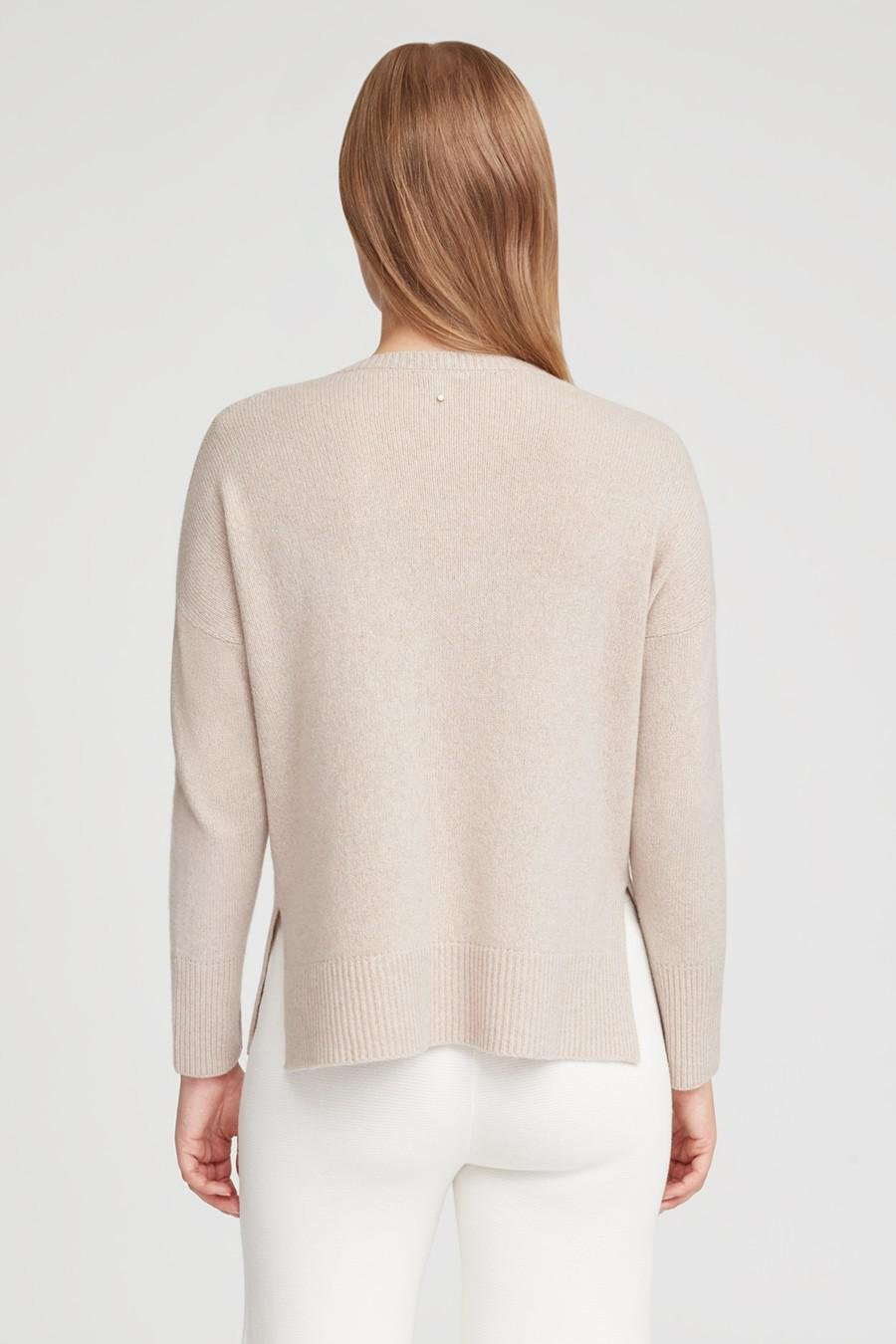 Women's Recycled Crewneck Sweater in Beige | Size: 2