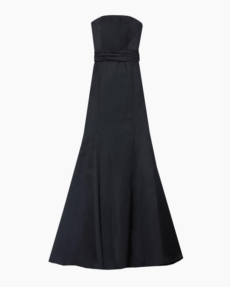 Strapless Trumpet Gown with Waist Knot Detail 3