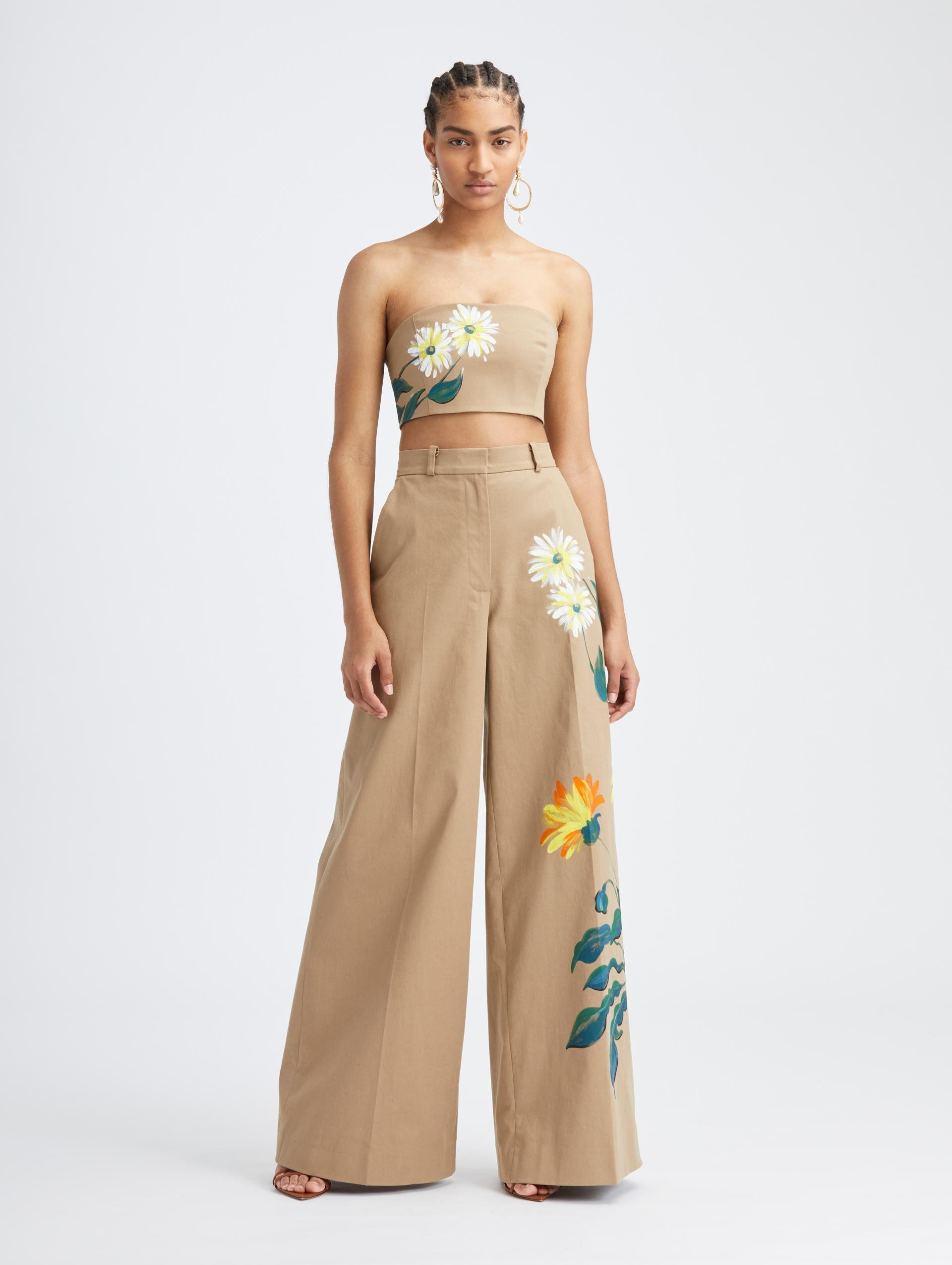 HAND PAINTED FLORAL PANT