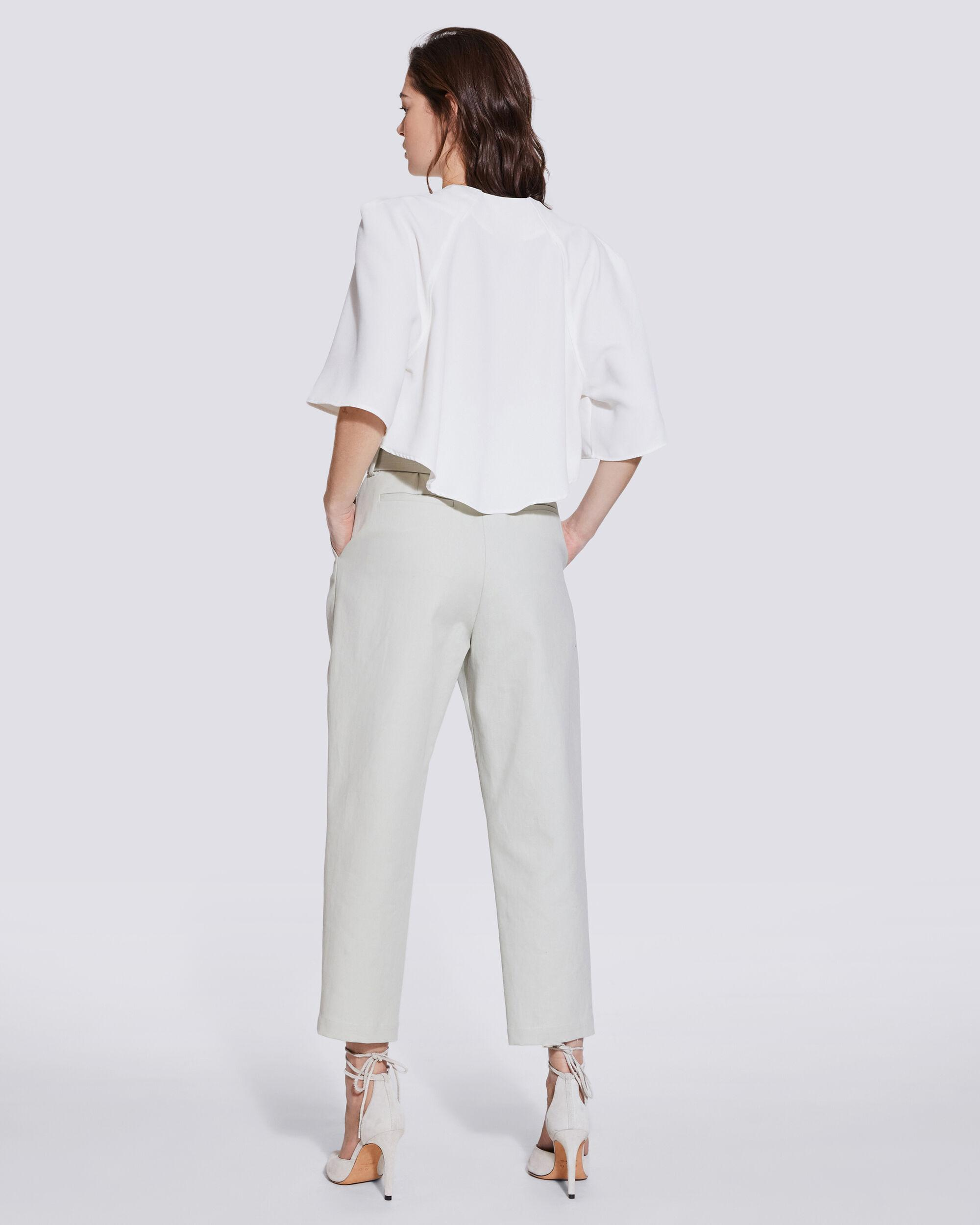 LATOD PLEATED CROPPED V NECK TOP 3