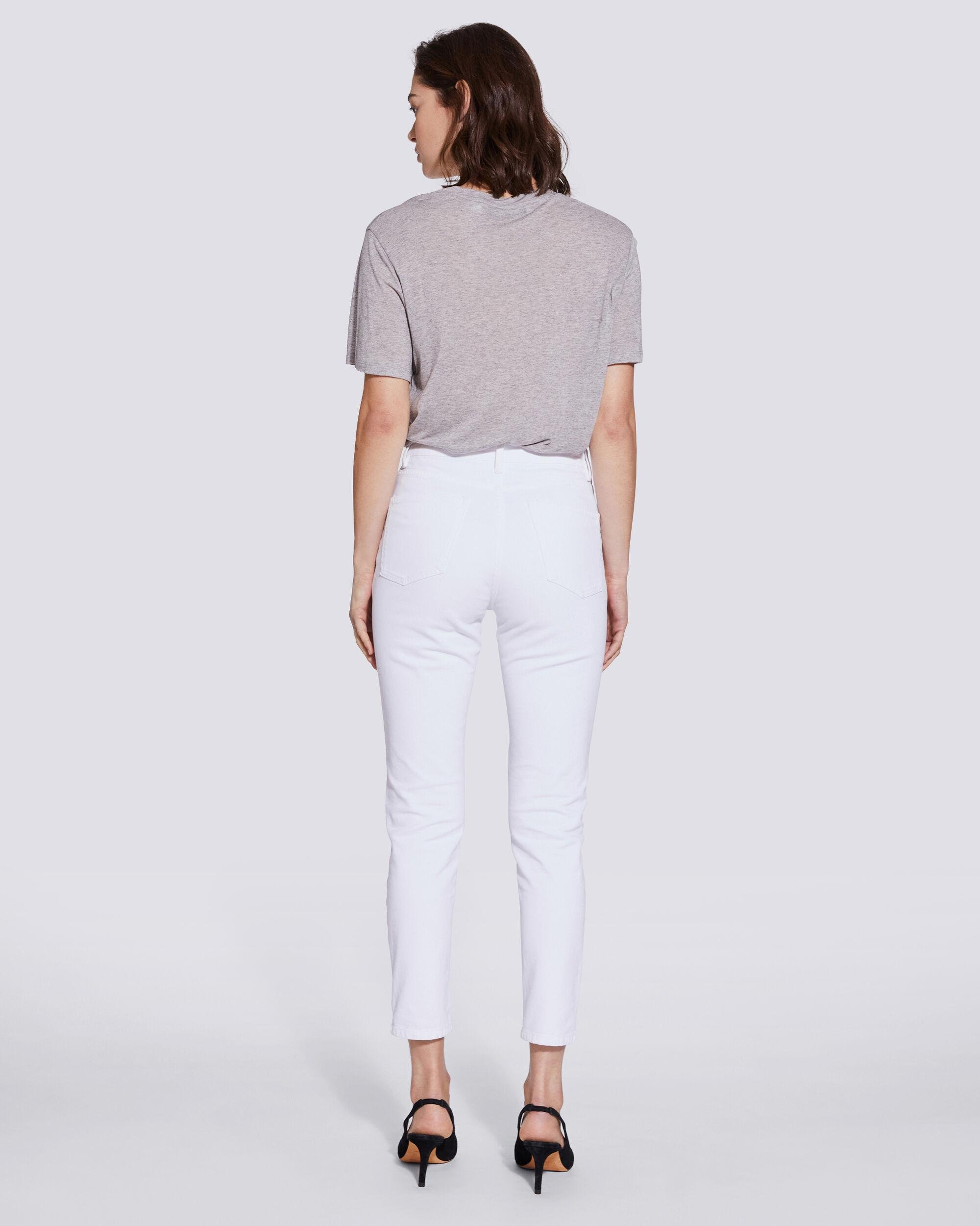 ESME HIGH RISE BUTTON FRONT CROPPED JEANS 2