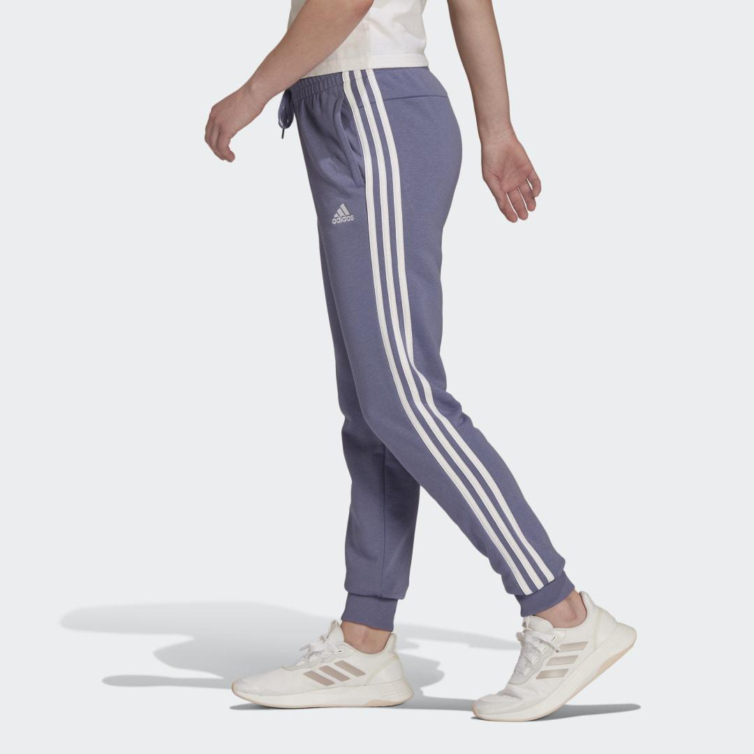 Essentials French Terry 3-Stripes Pants Orbit Violet 3