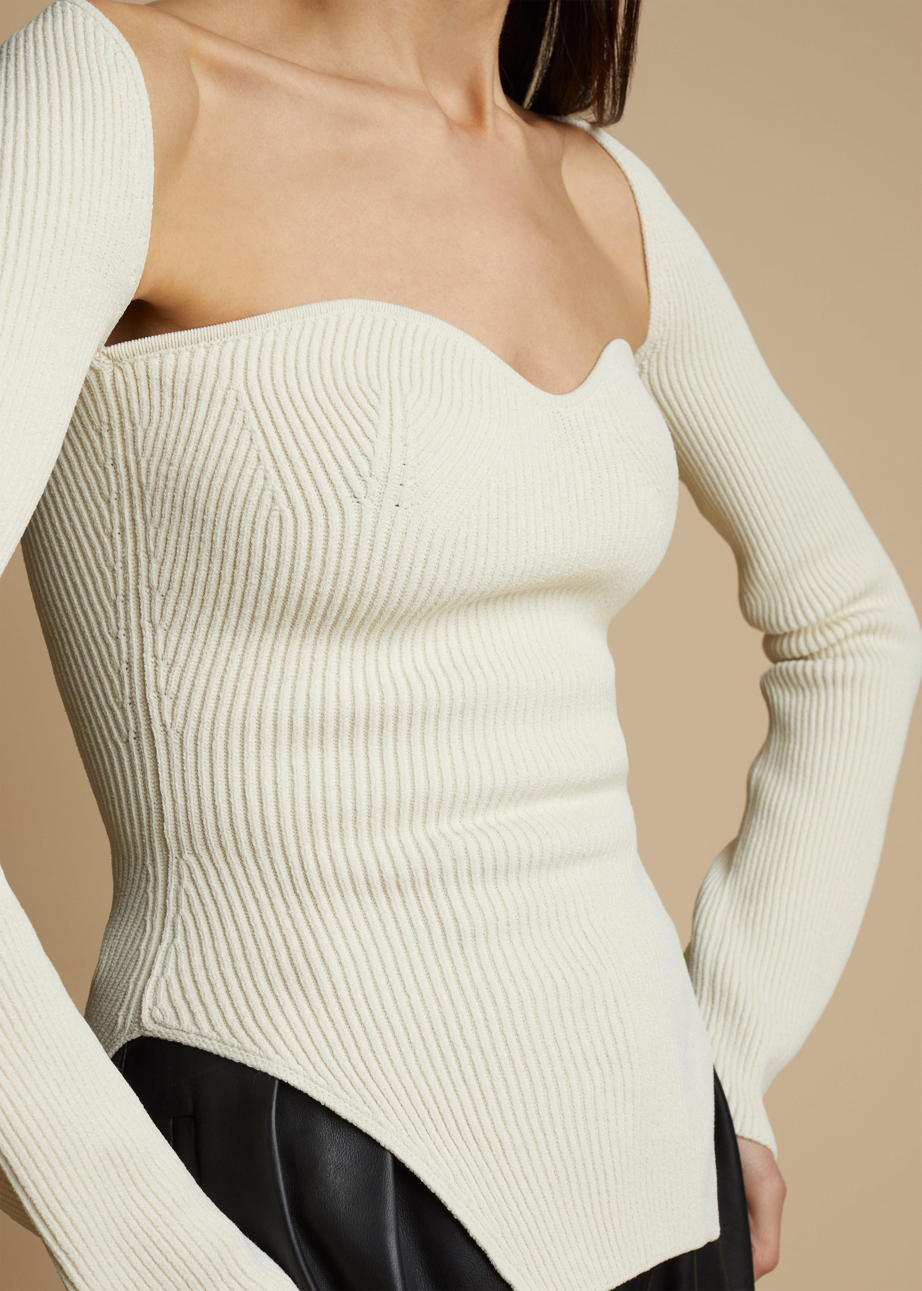 The Maddy Top in Cream 5
