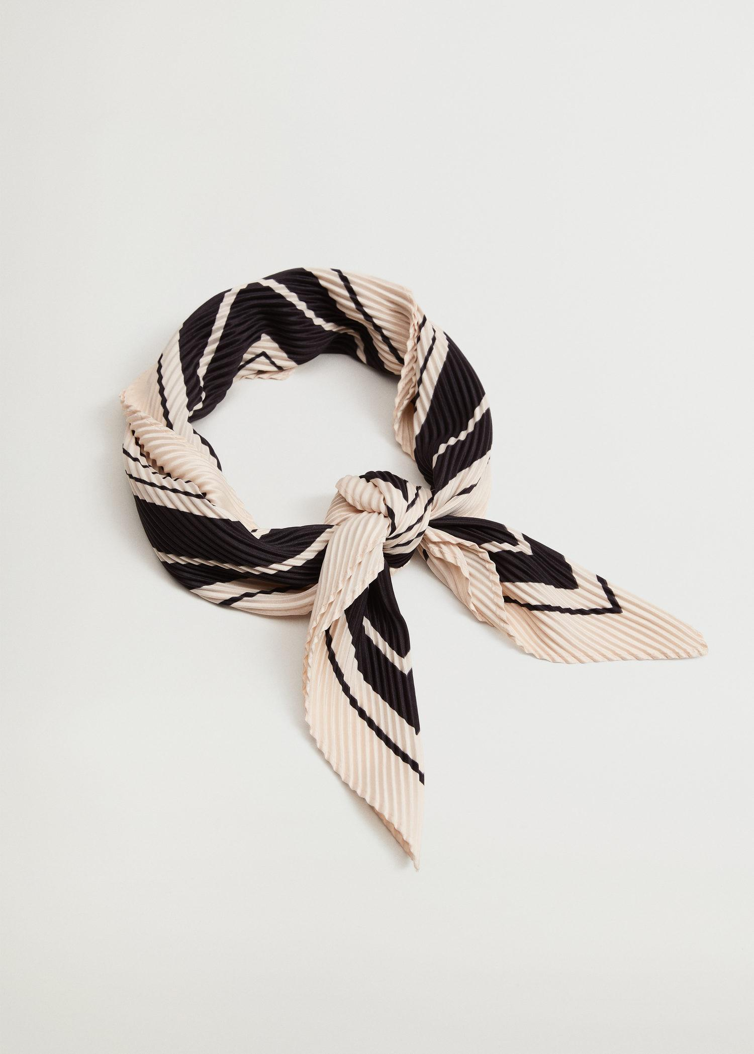 Striped printed scarf 1