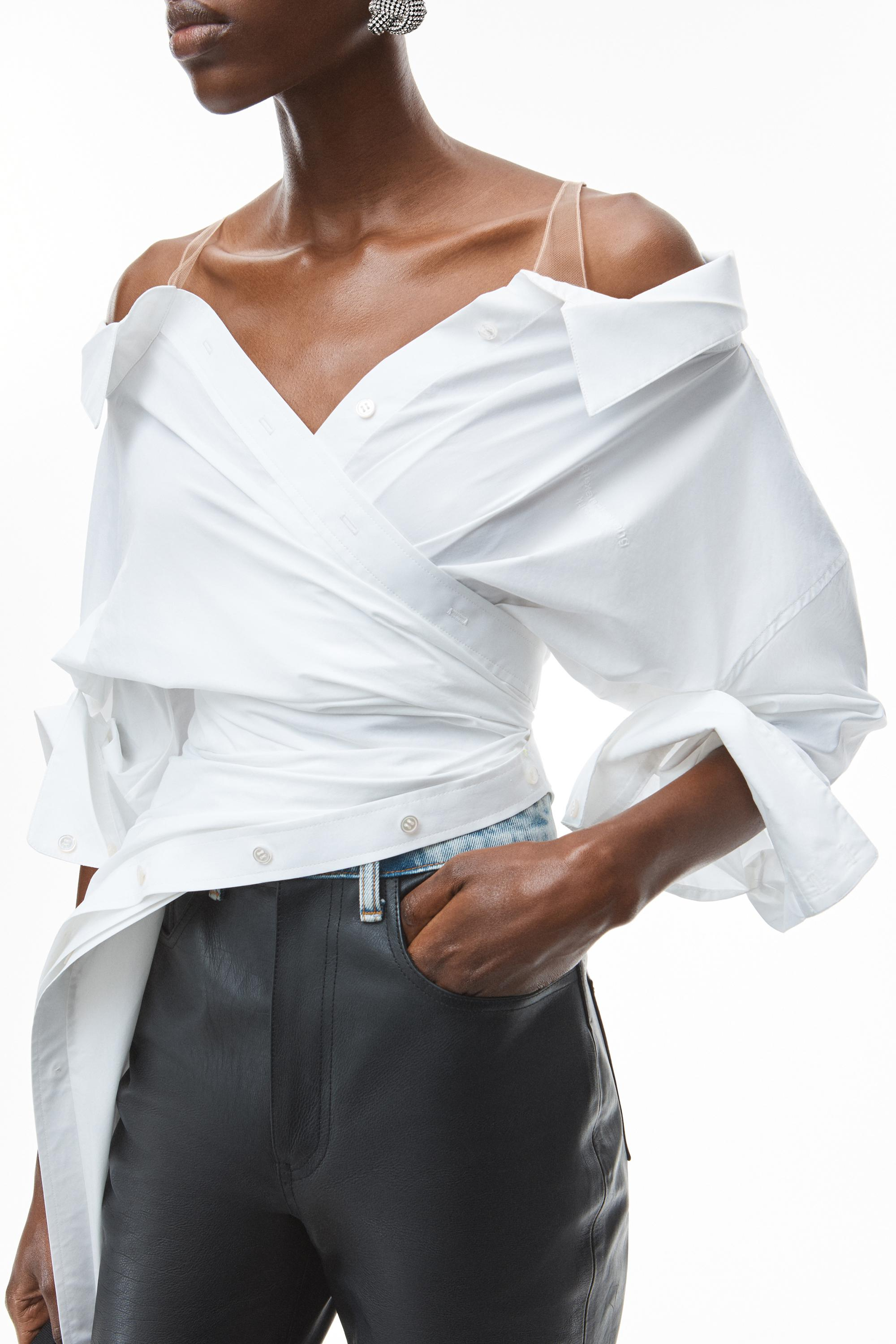 deconstructed top in crushed cotton 5
