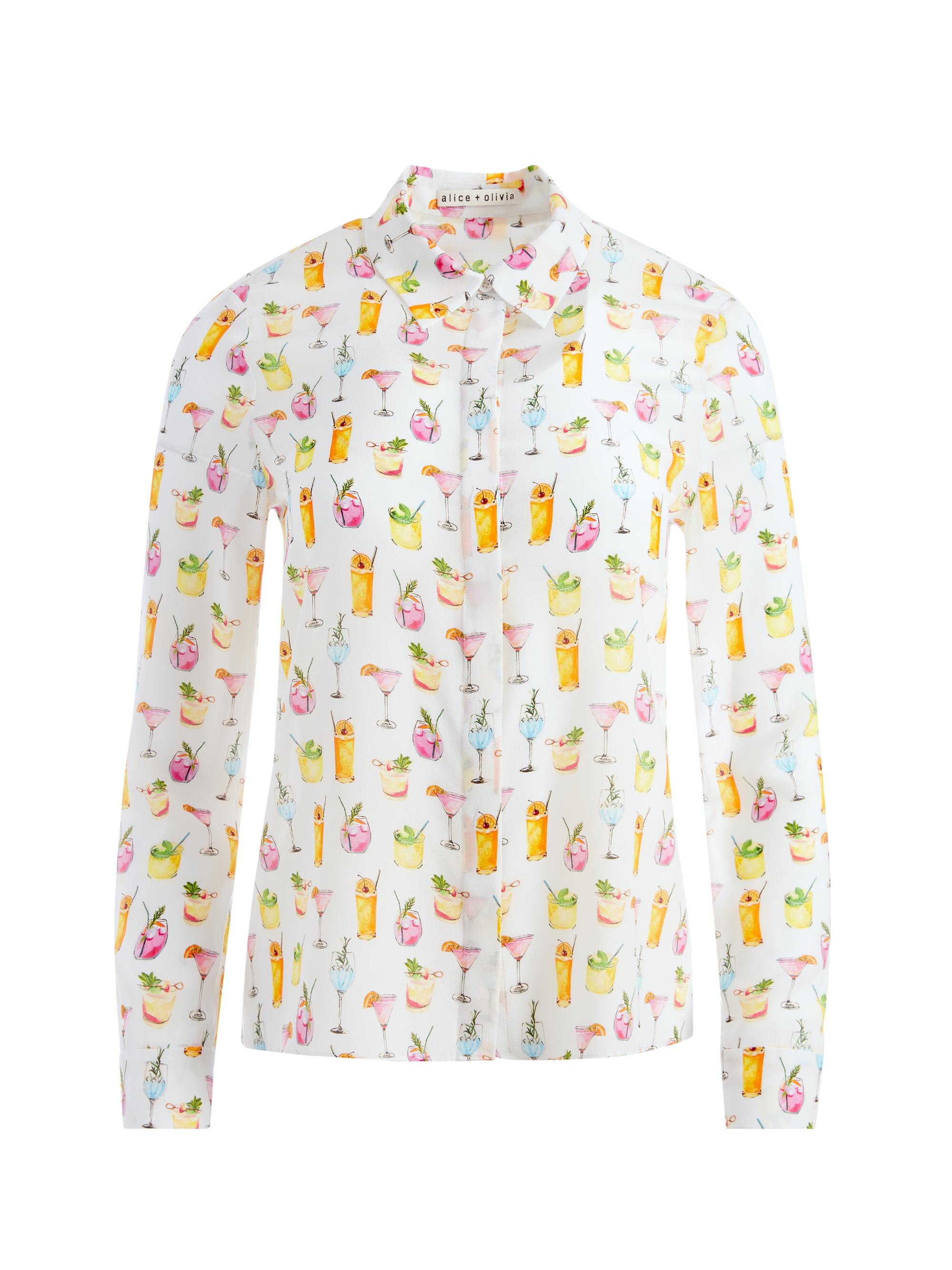 WILLA COCKTAIL PRINT PLACKET TOP 5
