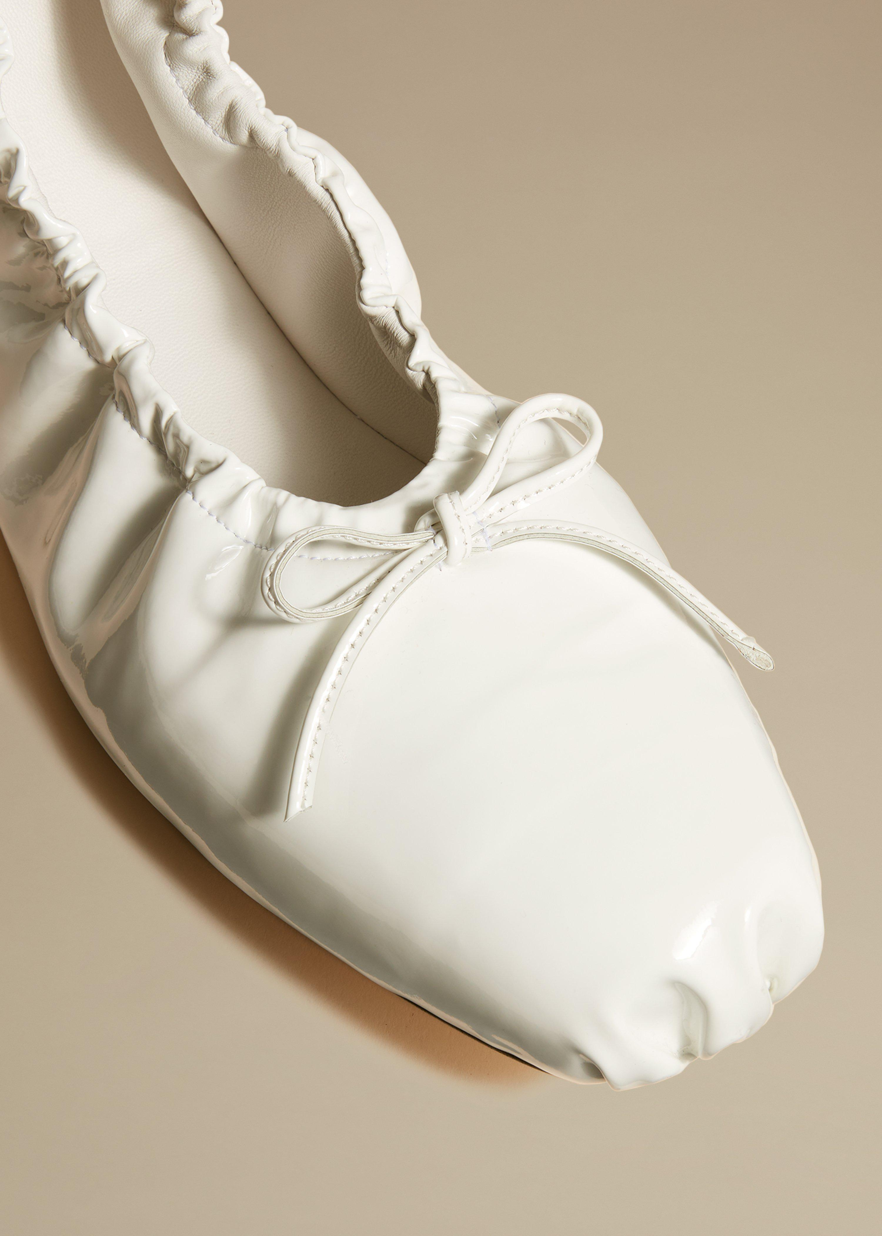 The Ashland Ballet Flat in White Patent Leather 3